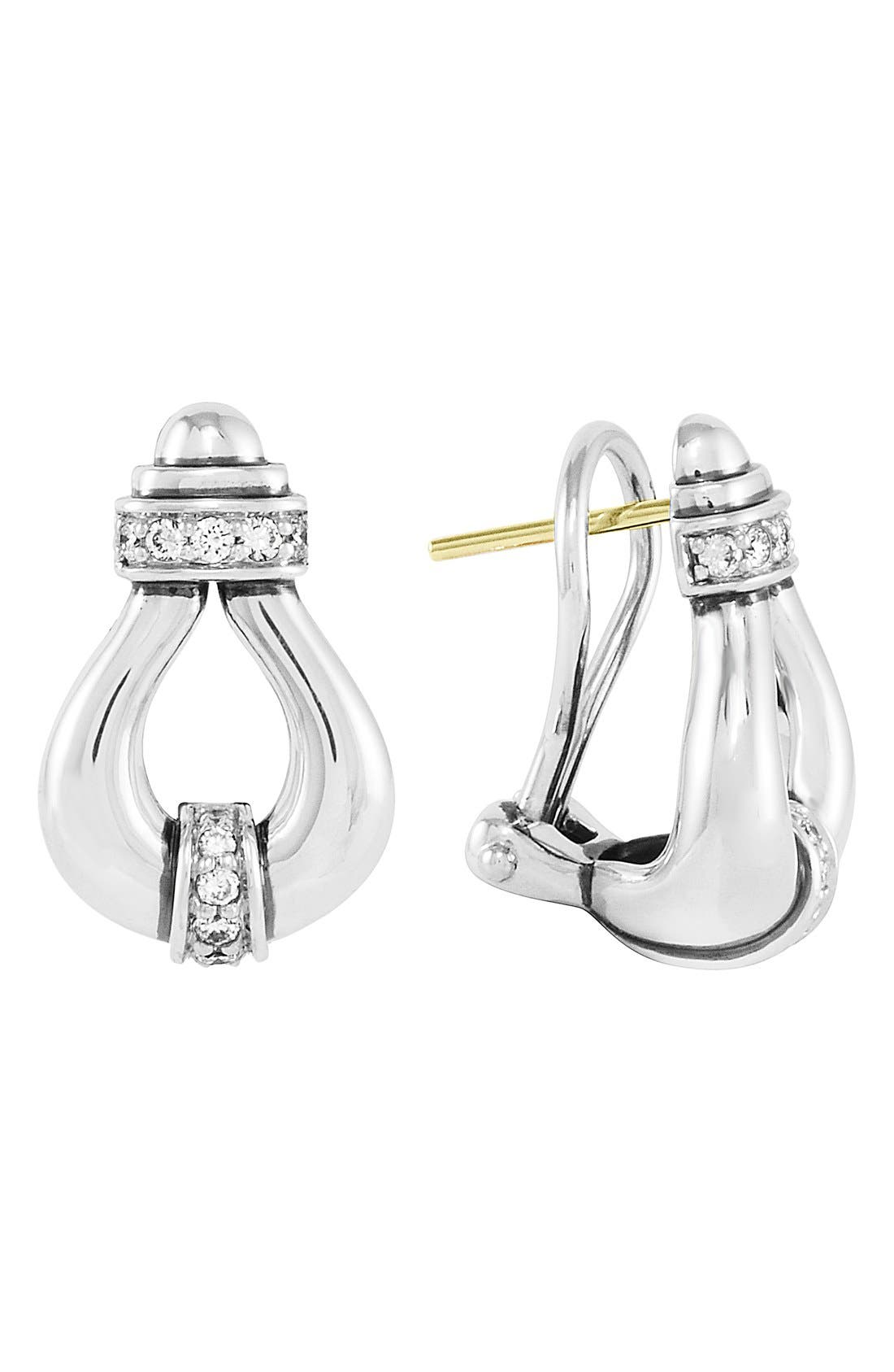 'Derby' Diamond Stud Earrings,                             Main thumbnail 1, color,                             040
