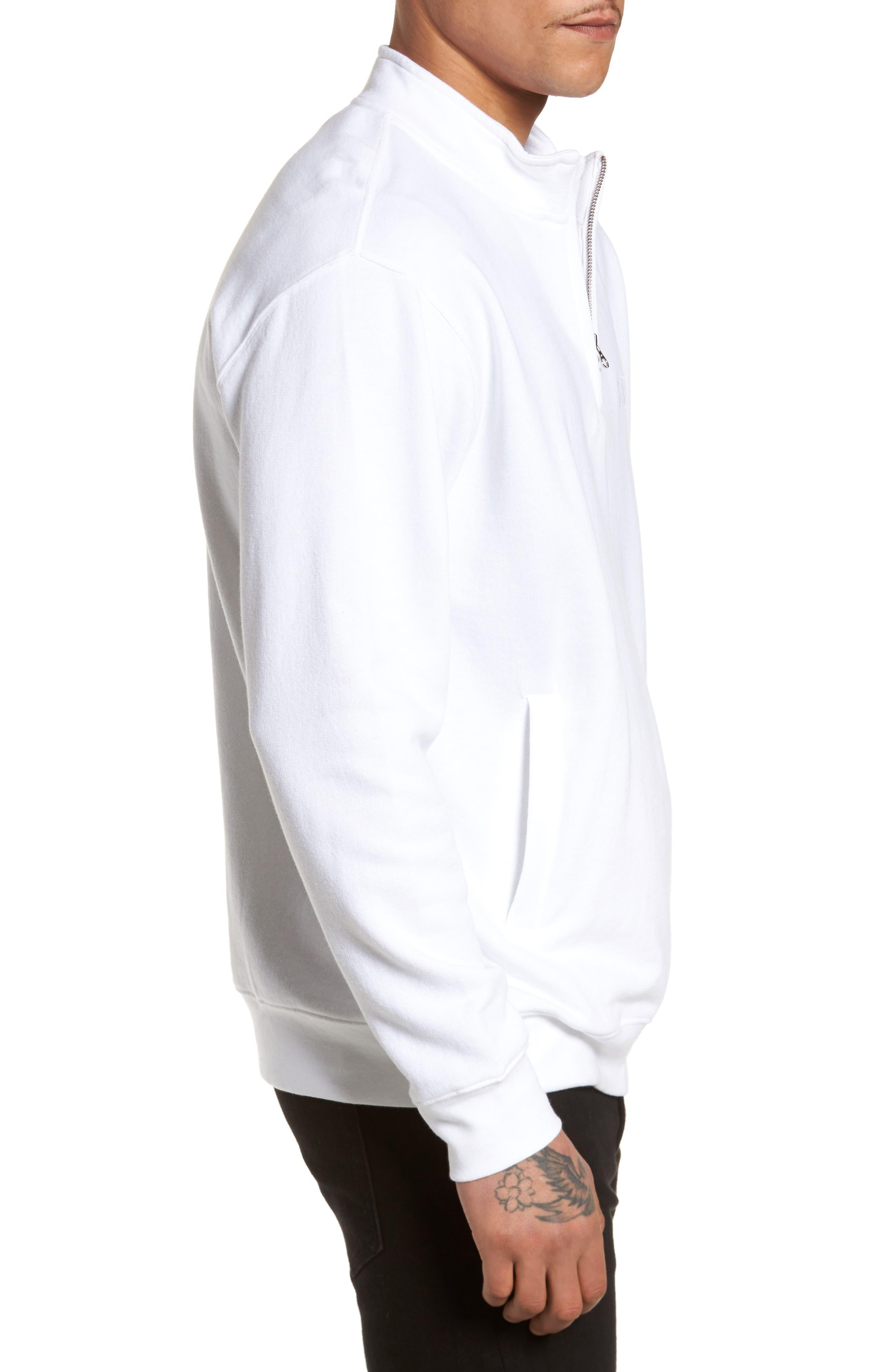 Atomatic Quarter-Zip Fleece Pullover,                             Alternate thumbnail 3, color,                             100