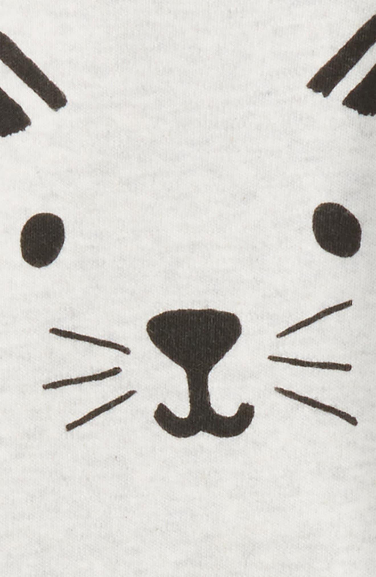 Cat Face Romper,                             Alternate thumbnail 2, color,                             900