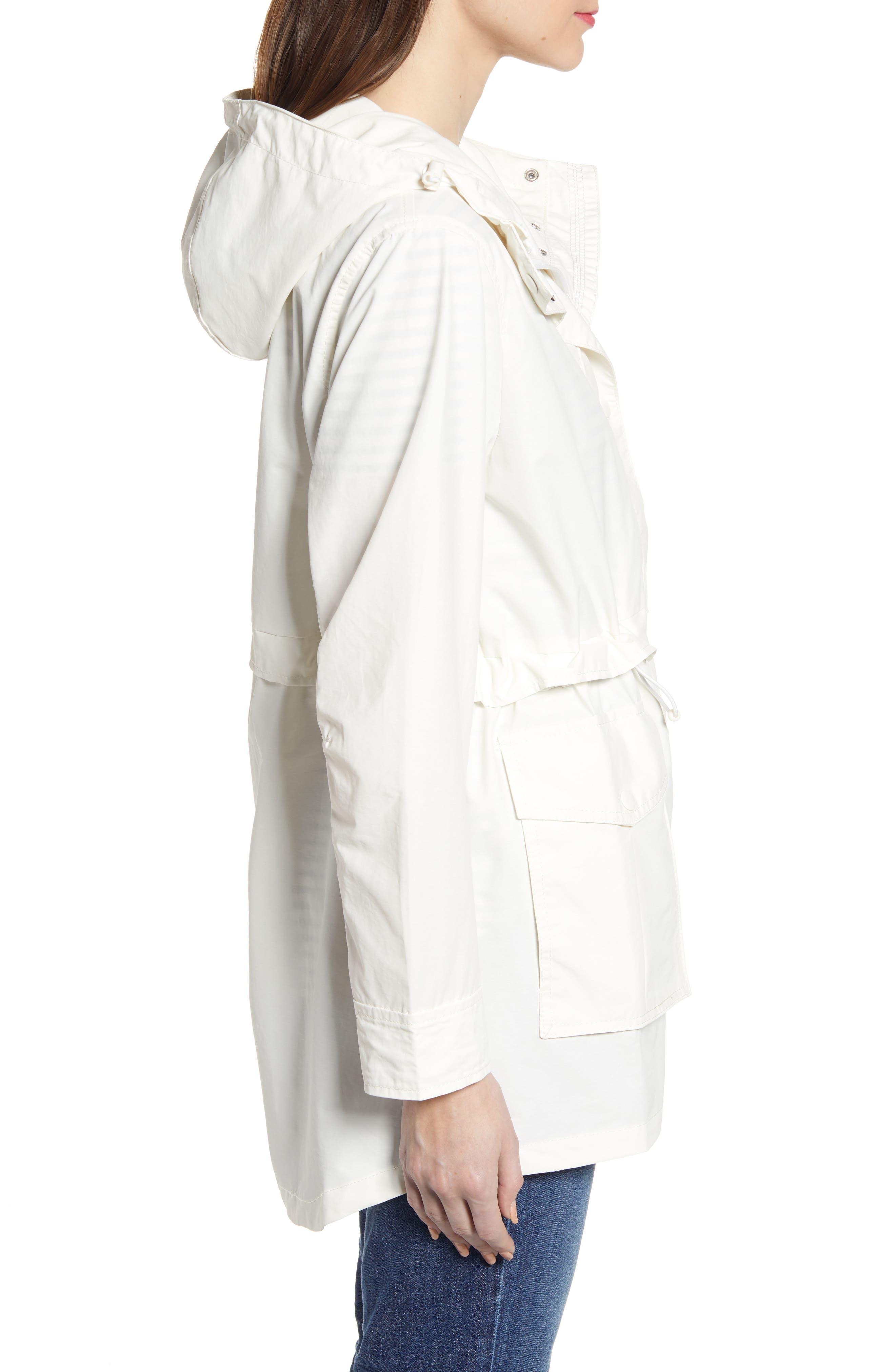 J.CREW,                             Perfect Raincoat,                             Alternate thumbnail 3, color,                             IVORY