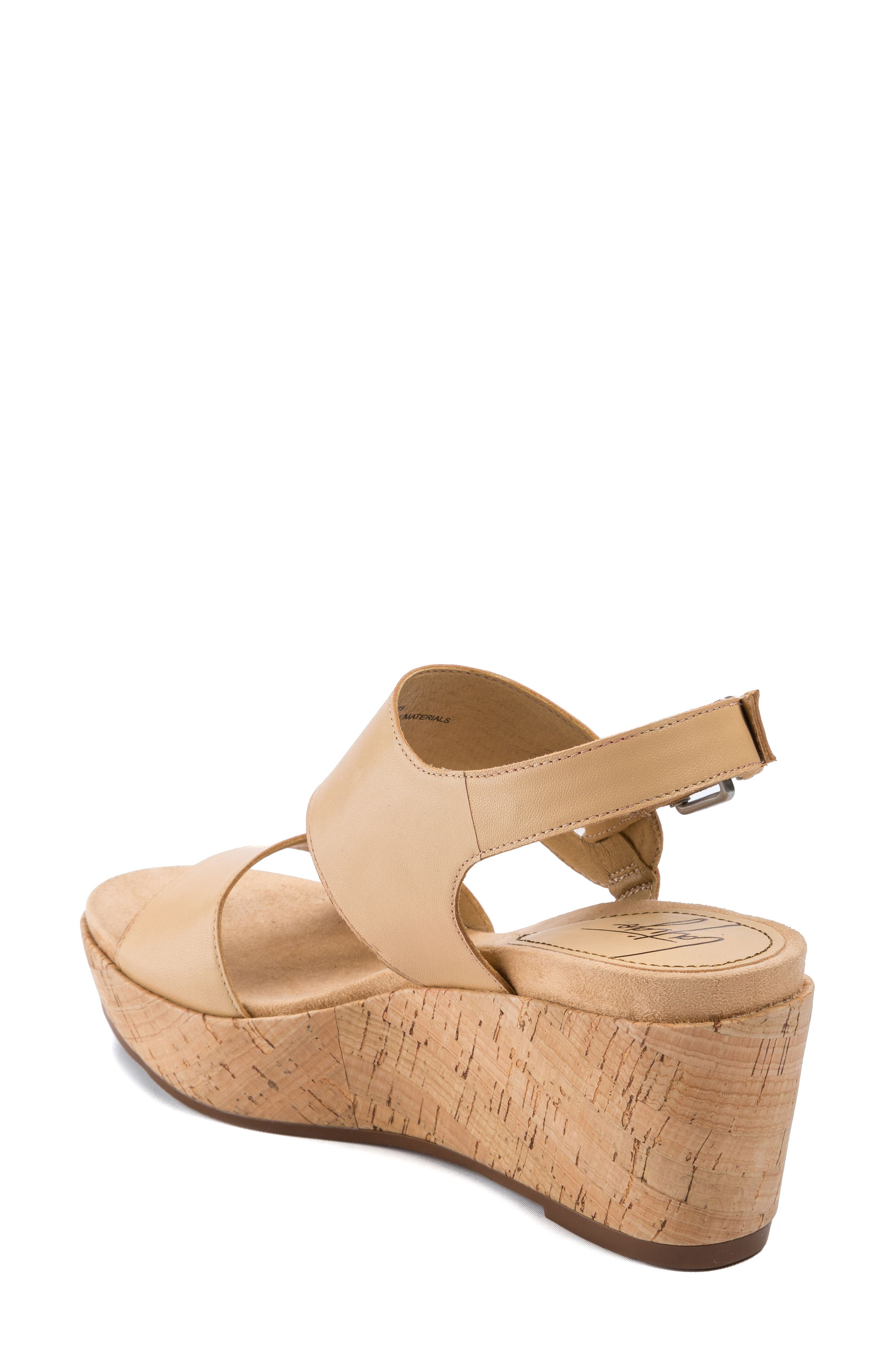 Lauren Platform Wedge Sandal,                             Alternate thumbnail 4, color,