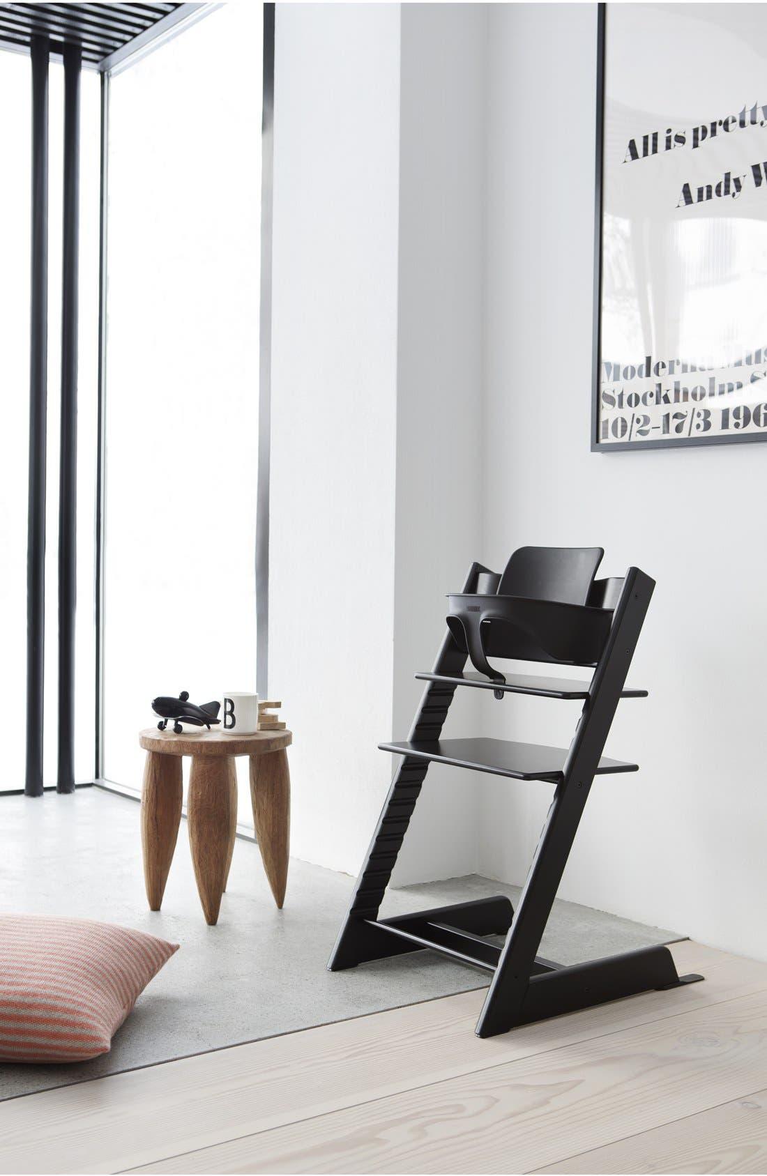 Tripp Trapp<sup>®</sup> Chair,                             Alternate thumbnail 2, color,                             BLACK