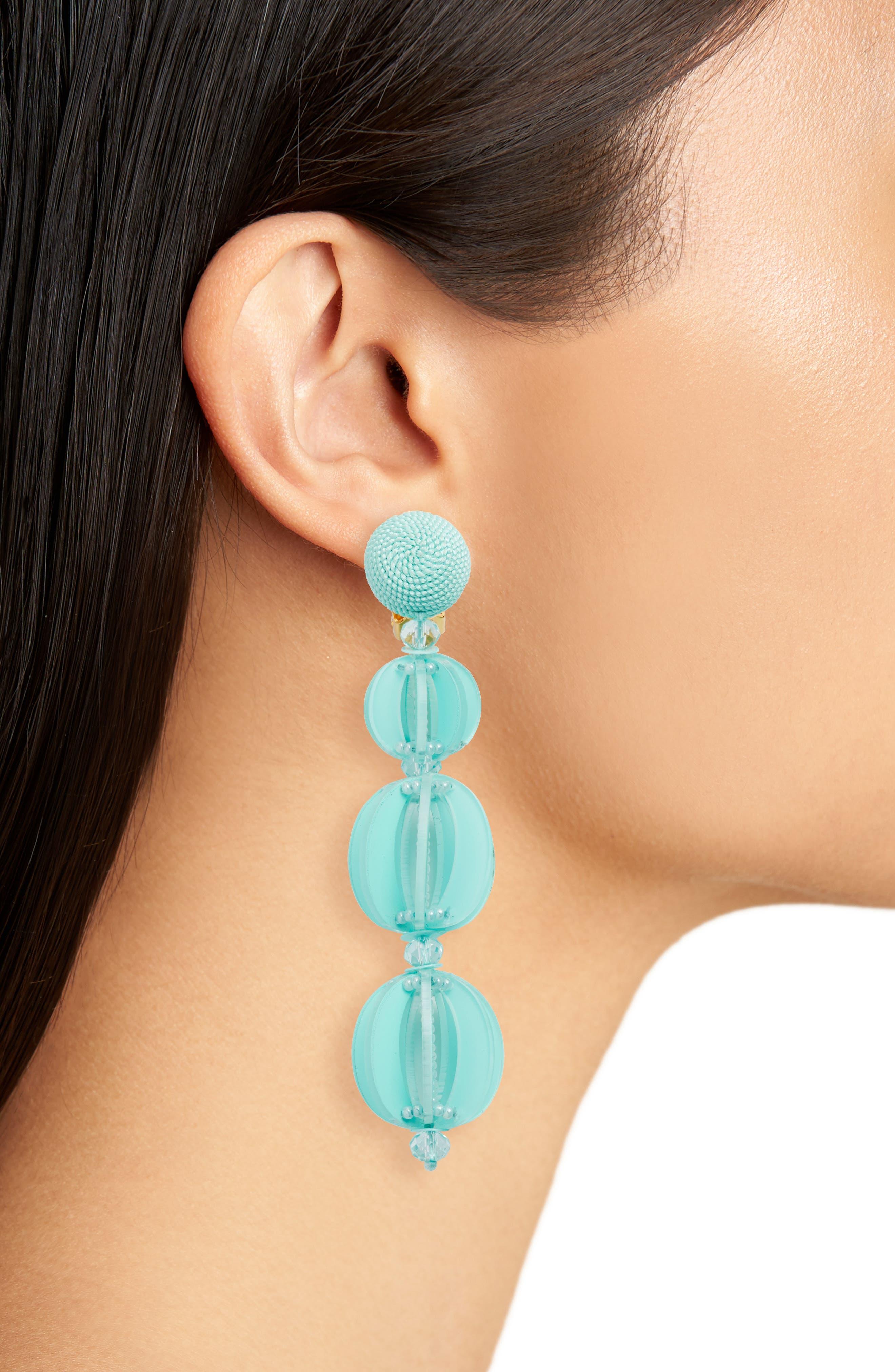 Spliced Globe Earrings,                             Alternate thumbnail 2, color,                             PISTACHIO