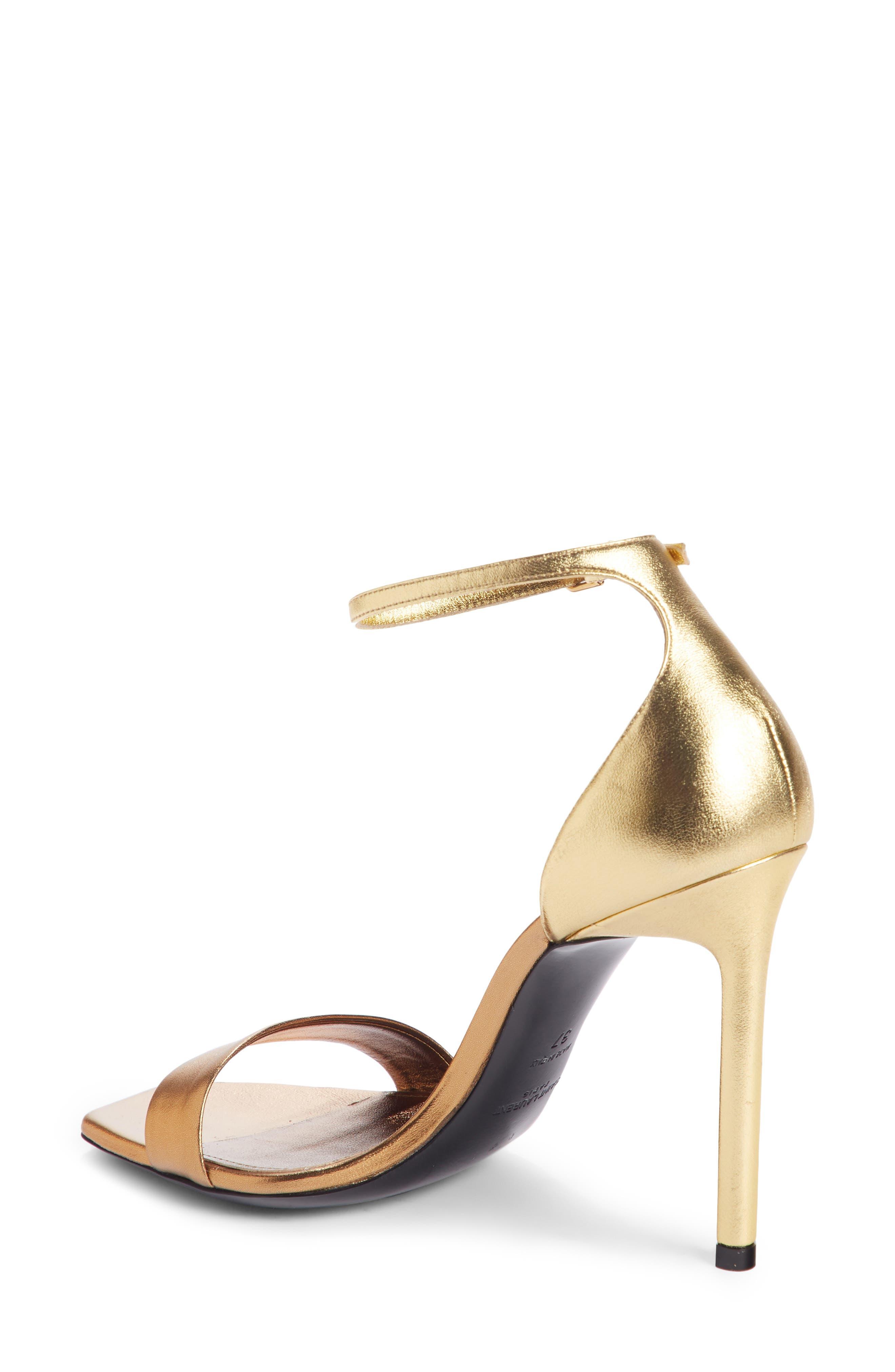 Amber Ankle Strap Sandal,                             Alternate thumbnail 2, color,                             BRONZE GOLD