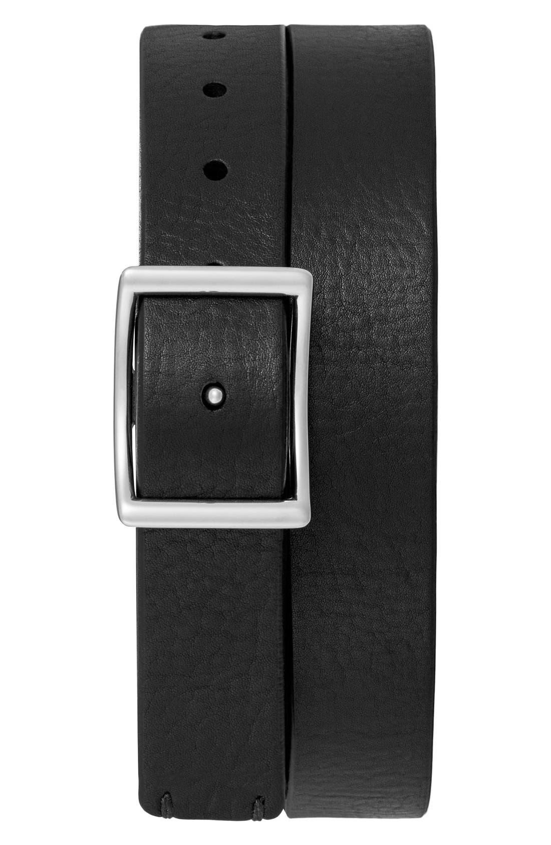 Reversible Leather Belt,                             Alternate thumbnail 5, color,                             002