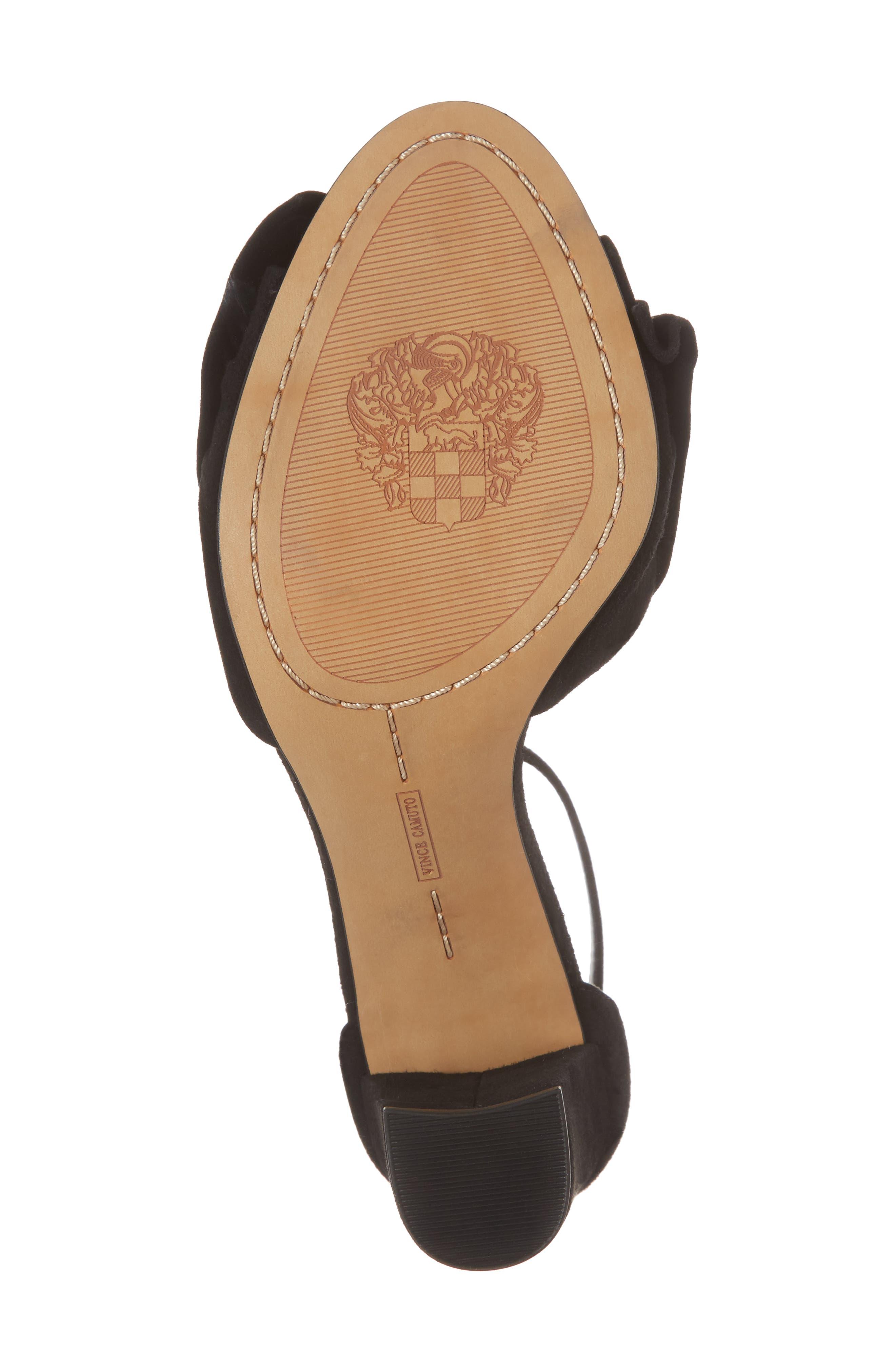 Carrelen Block Heel Sandal,                             Alternate thumbnail 6, color,                             001