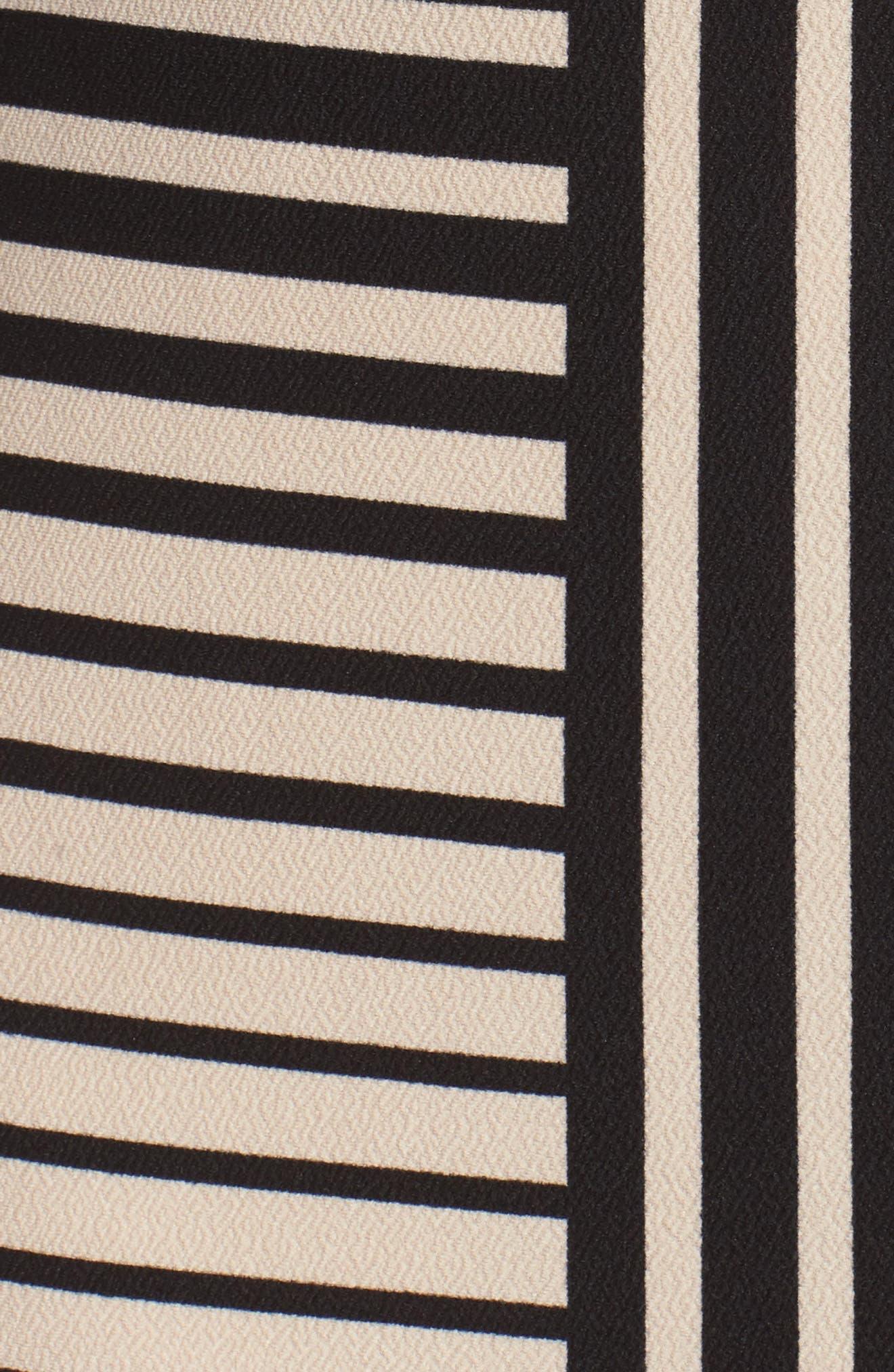 Stripe Knit Sheath Dress,                             Alternate thumbnail 5, color,                             250