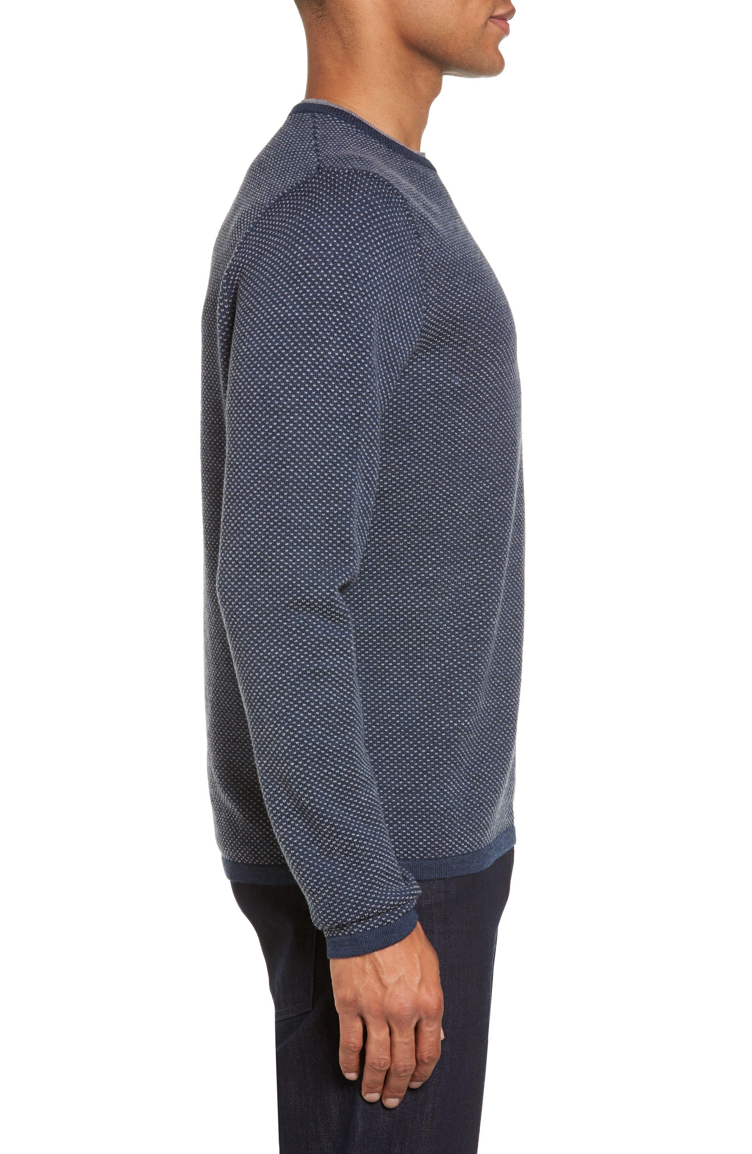 Textured Merino Wool Sweater,                             Alternate thumbnail 3, color,                             410