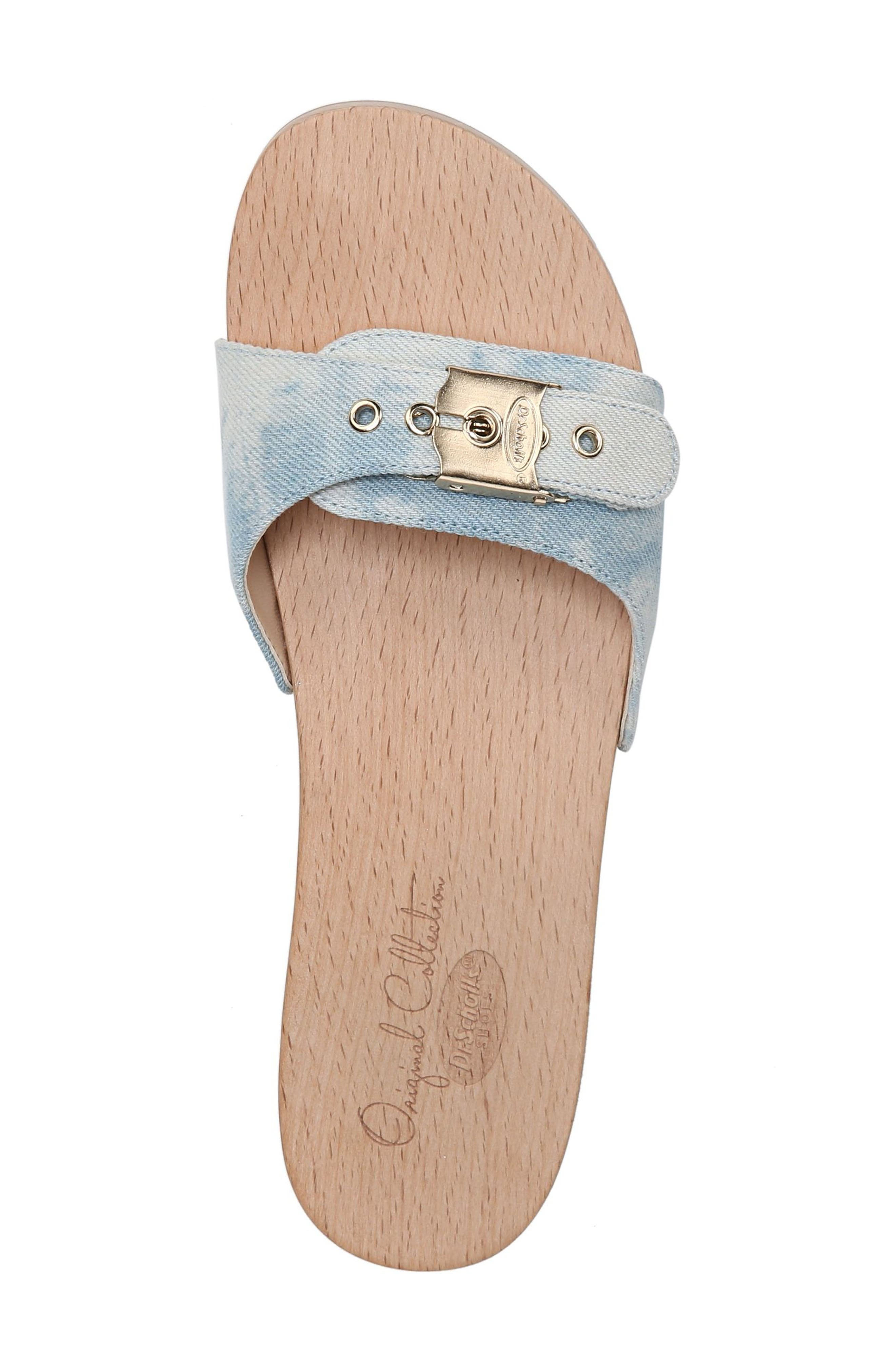 Original Collection 'Original Footbed' Sandal,                             Alternate thumbnail 5, color,                             DENIM FABRIC