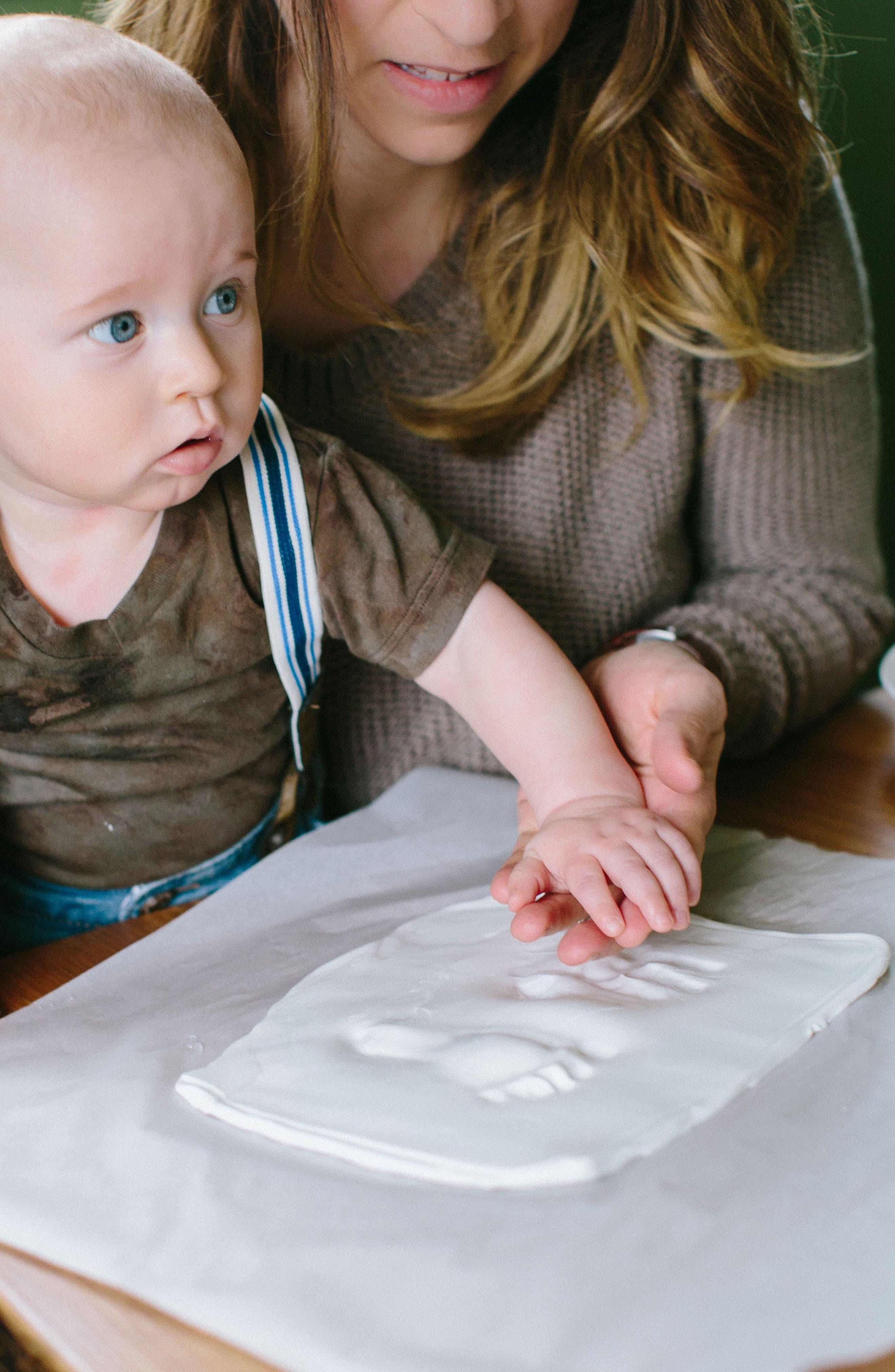 My Little Babyprints Tin,                             Alternate thumbnail 4, color,                             GREY