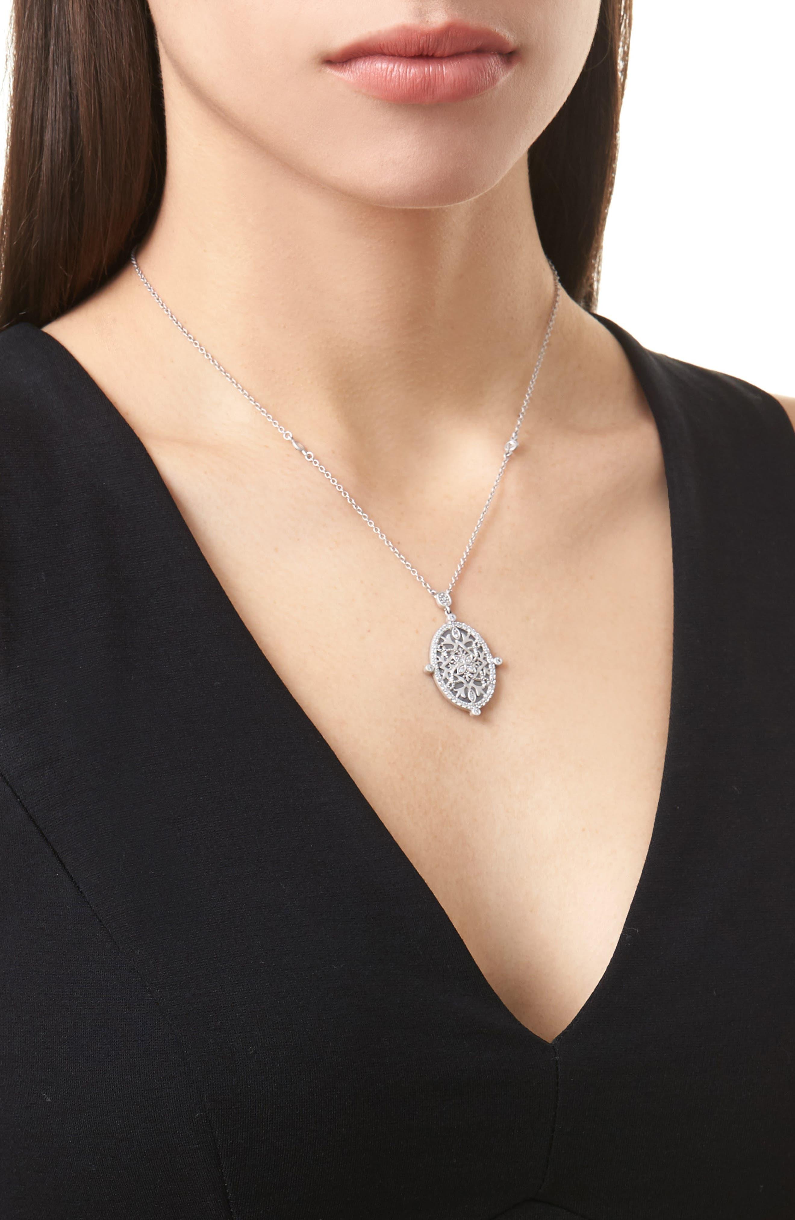 Contemporary Deco Celestial Pendant Necklace,                             Alternate thumbnail 2, color,                             040