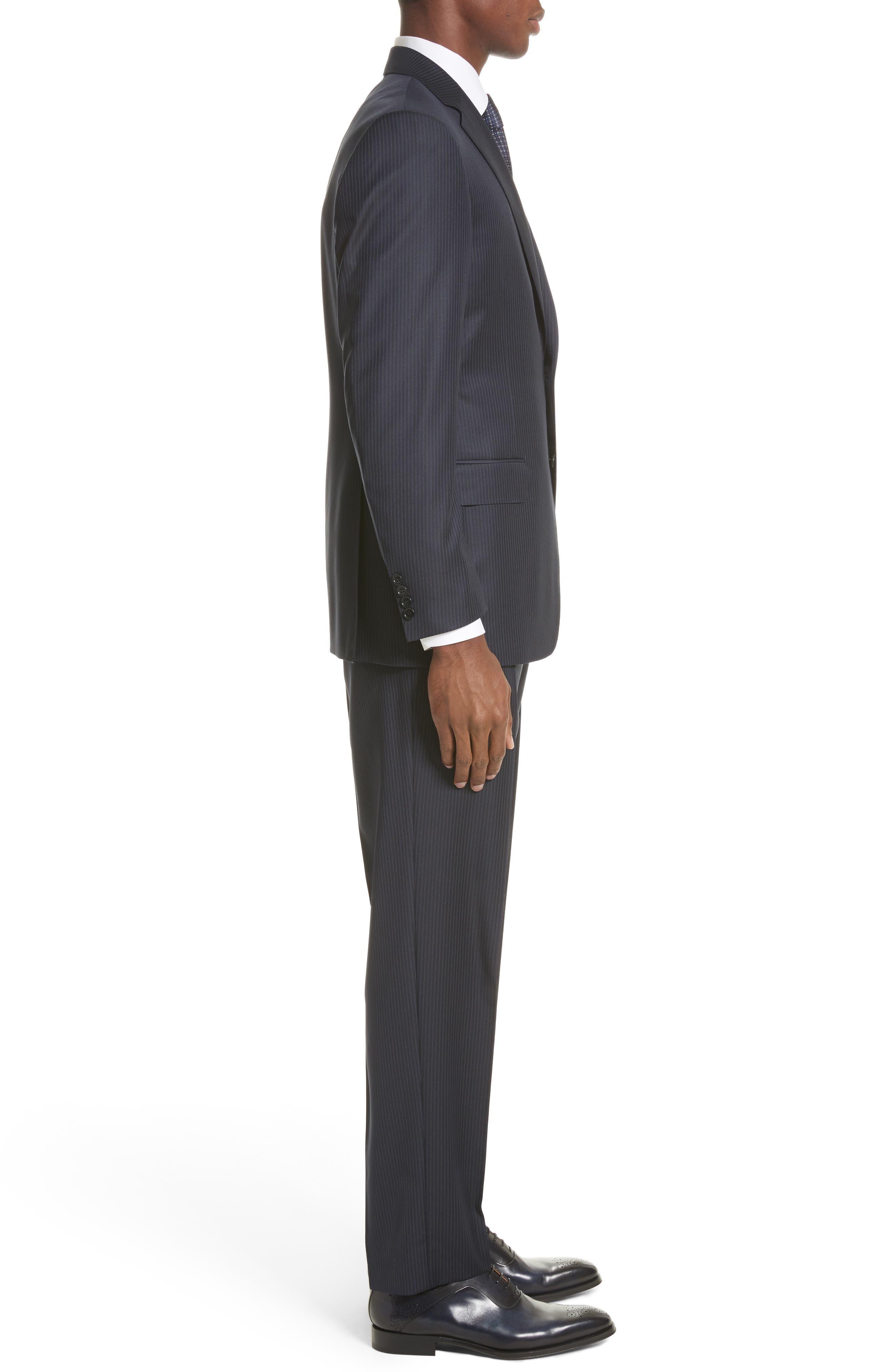 Classic Fit Stripe Wool Suit,                             Alternate thumbnail 3, color,                             410