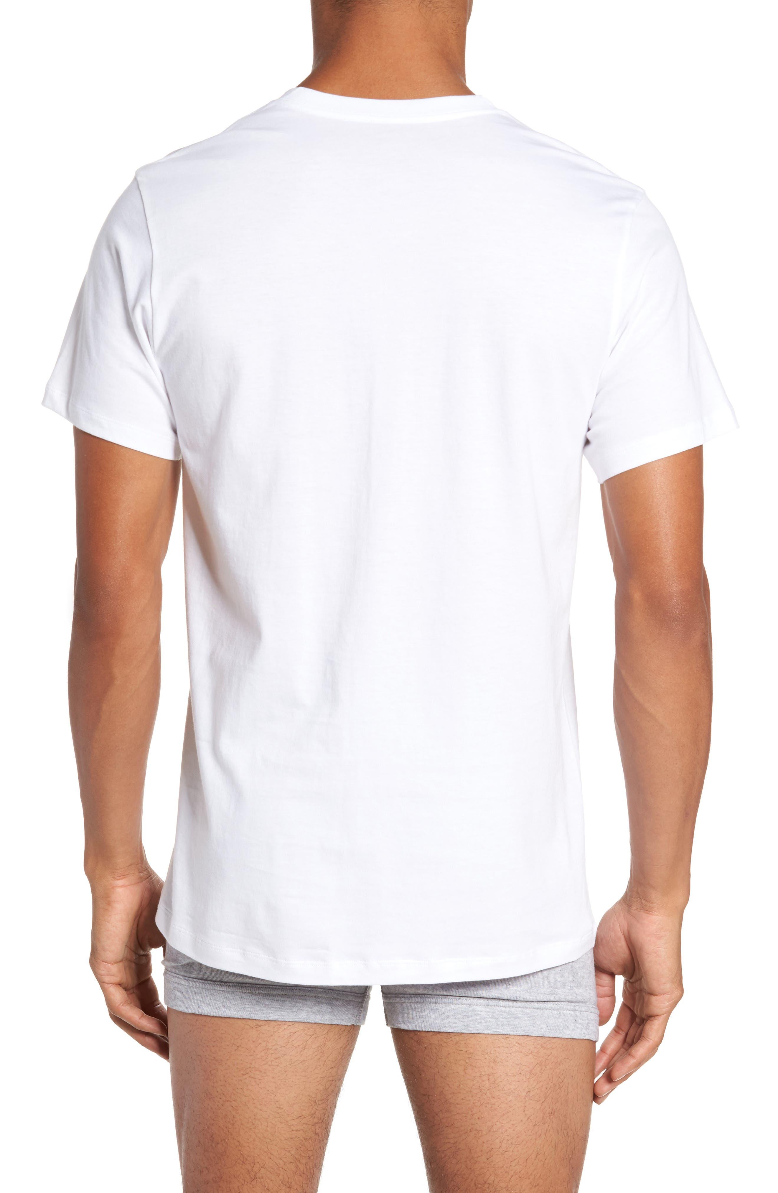4-Pack V-Neck T-Shirt,                             Alternate thumbnail 2, color,                             WHITE