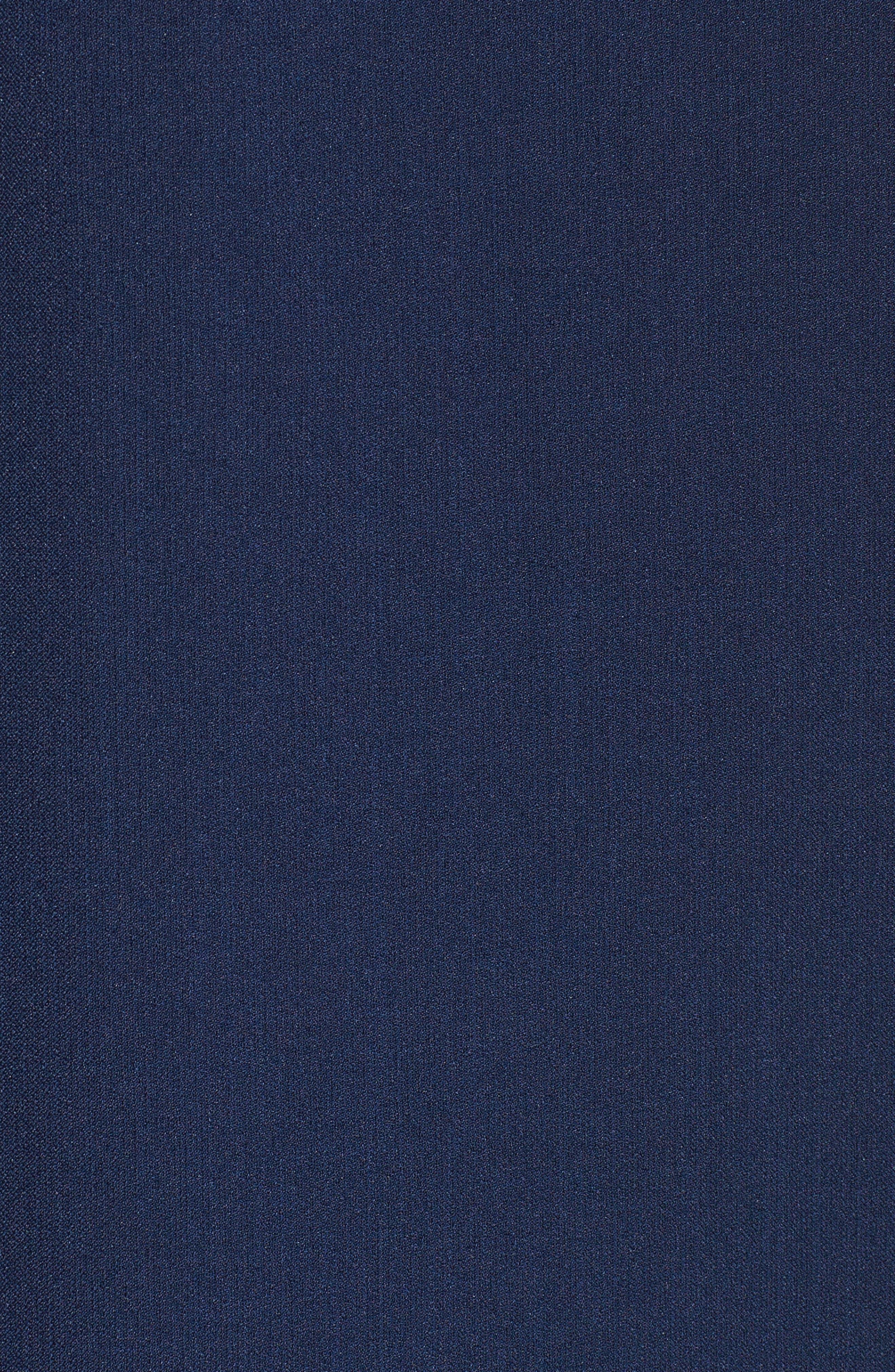 Scallop Inset Crepe Sheath Dress,                             Alternate thumbnail 6, color,                             412