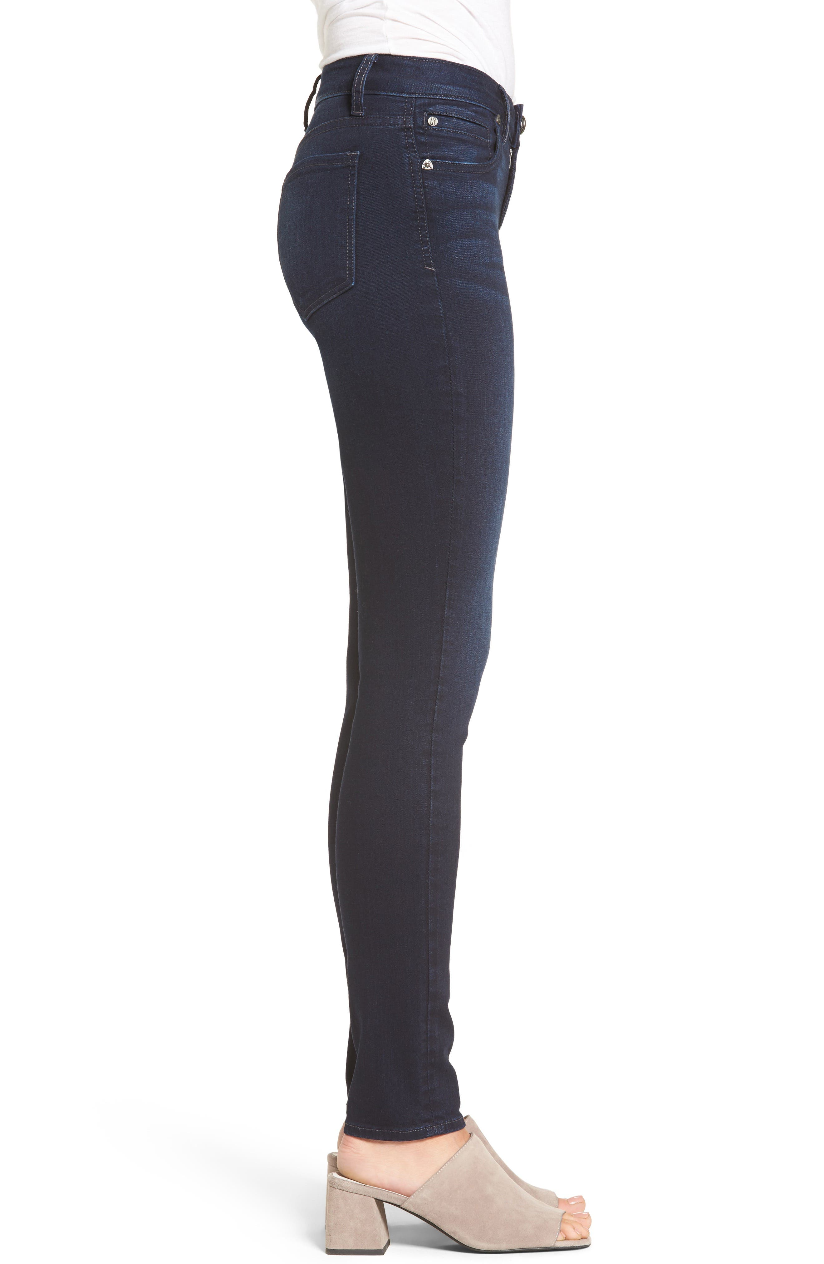 Diana Stretch Skinny Jeans,                             Alternate thumbnail 3, color,                             490