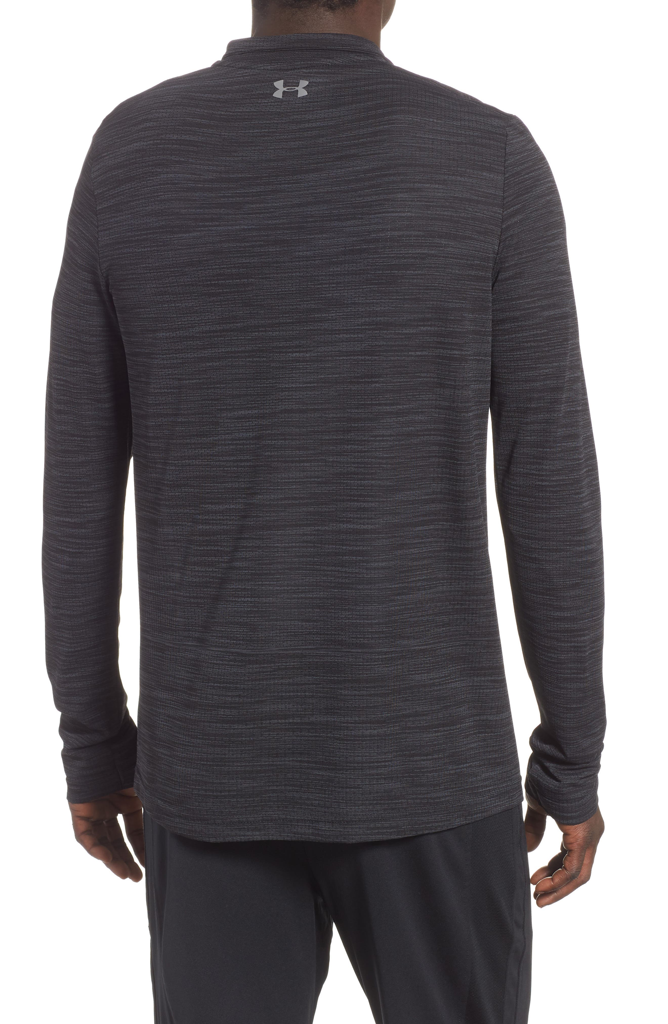 Siphon Regular Fit Half-Zip Pullover,                             Alternate thumbnail 2, color,                             BLACK