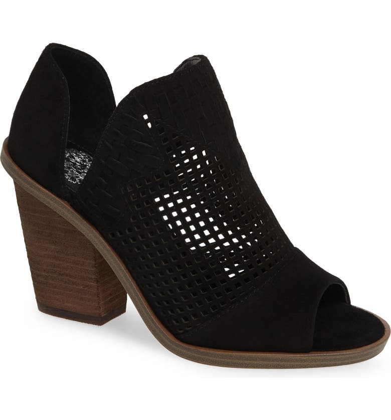 Order Vince Camuto Fritzey Perforated Peep Toe Bootie (Women) Price Check