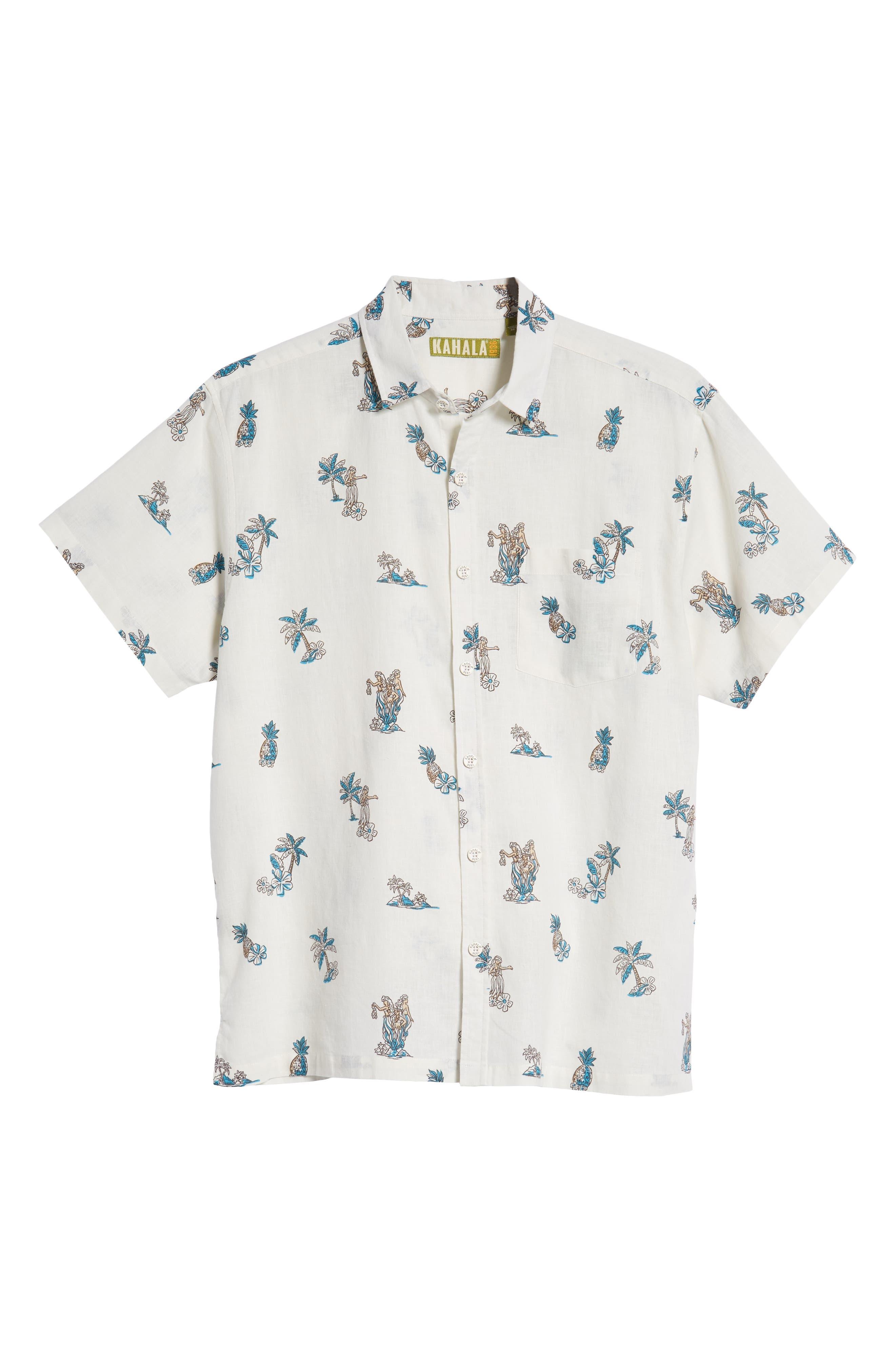 Moku Iki Classic Fit Linen & Cotton Sport Shirt,                             Alternate thumbnail 5, color,                             102