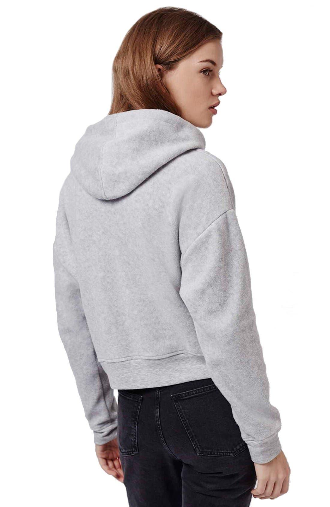 'Arizona' Embroidered Brushed Fleece Hoodie,                             Alternate thumbnail 5, color,                             050