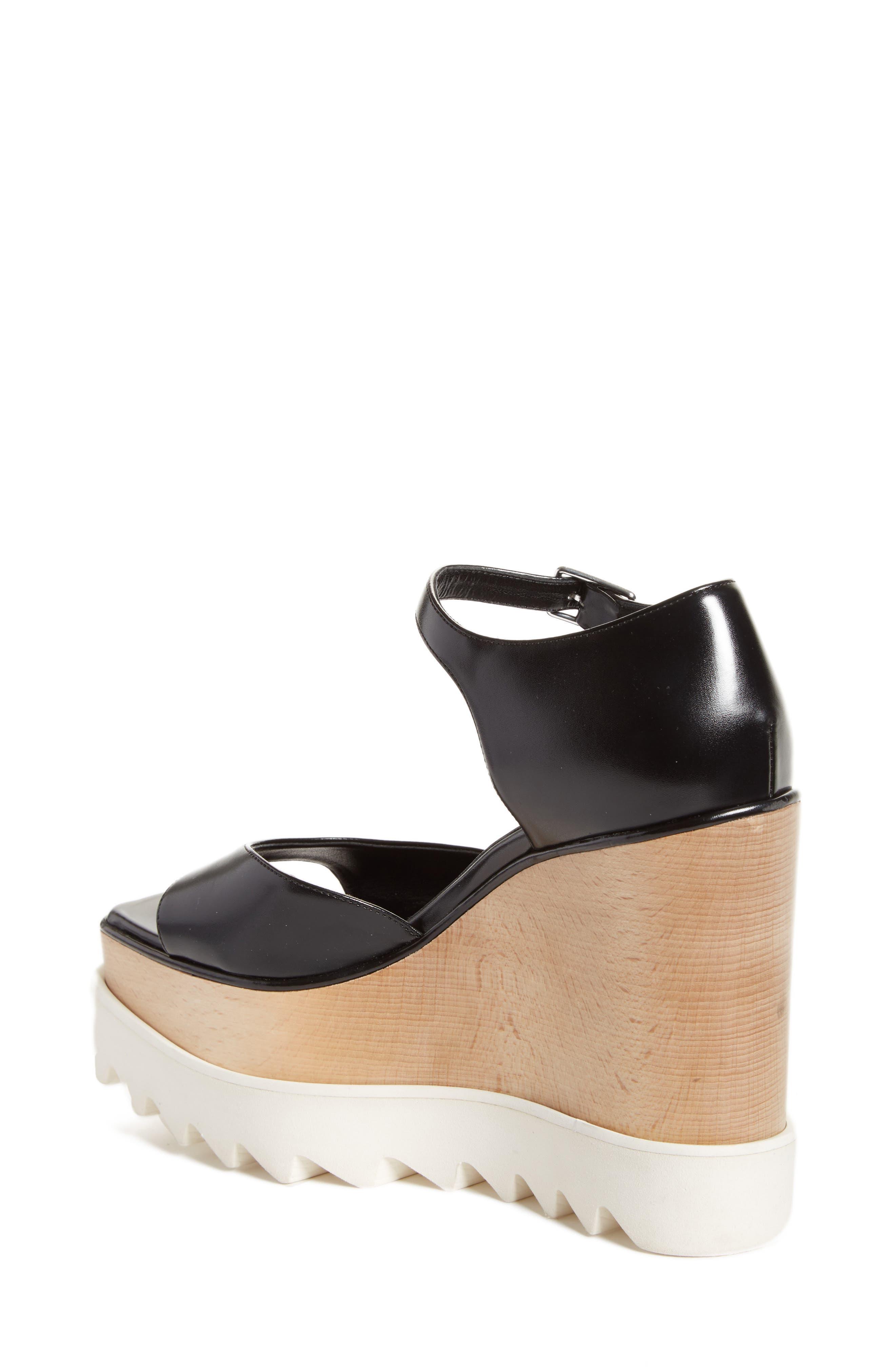 Platform Wedge Sandal,                             Alternate thumbnail 2, color,                             001