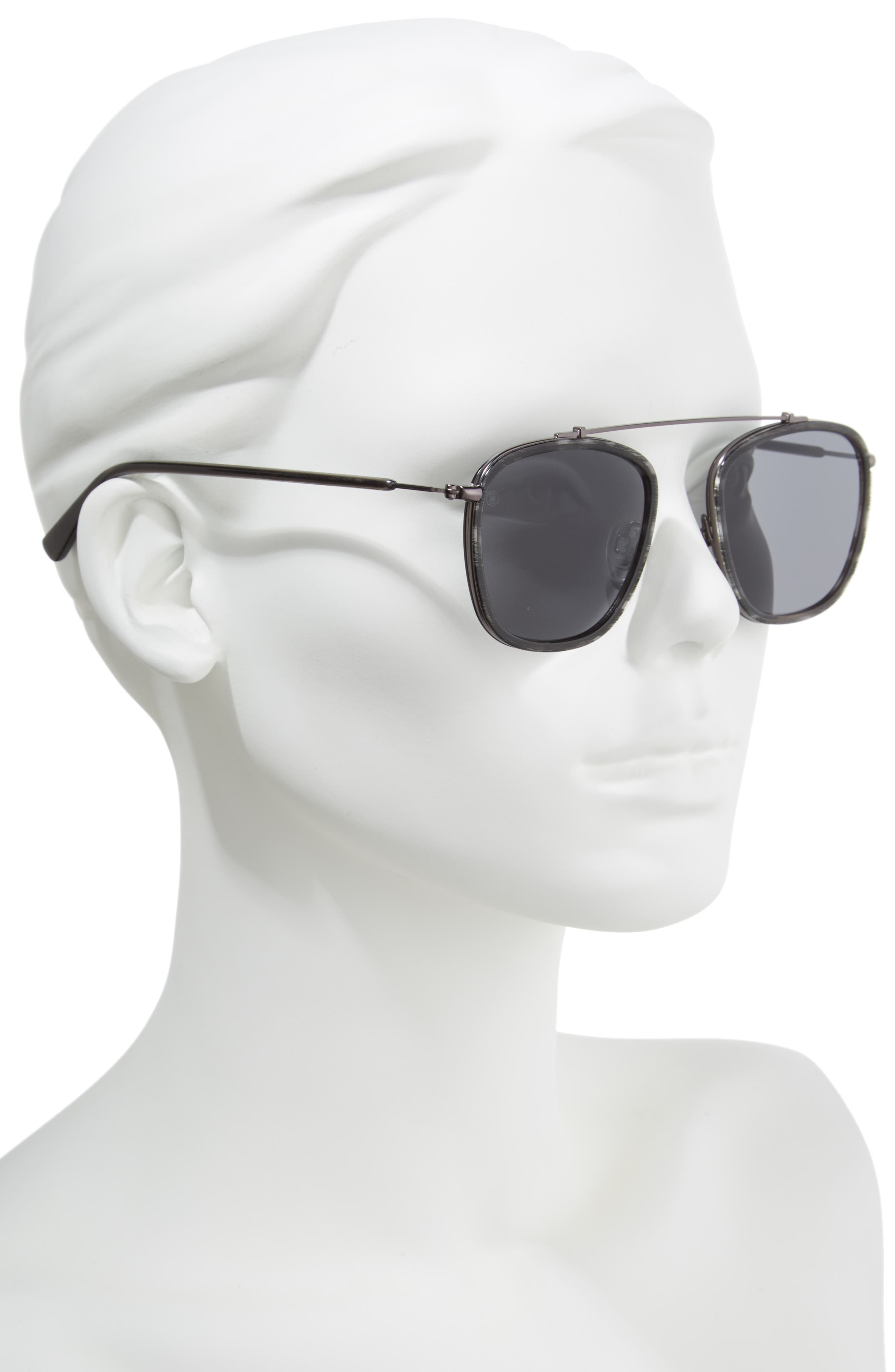 D'BLANC Ceremony 51mm Square Sunglasses,                             Alternate thumbnail 2, color,                             001