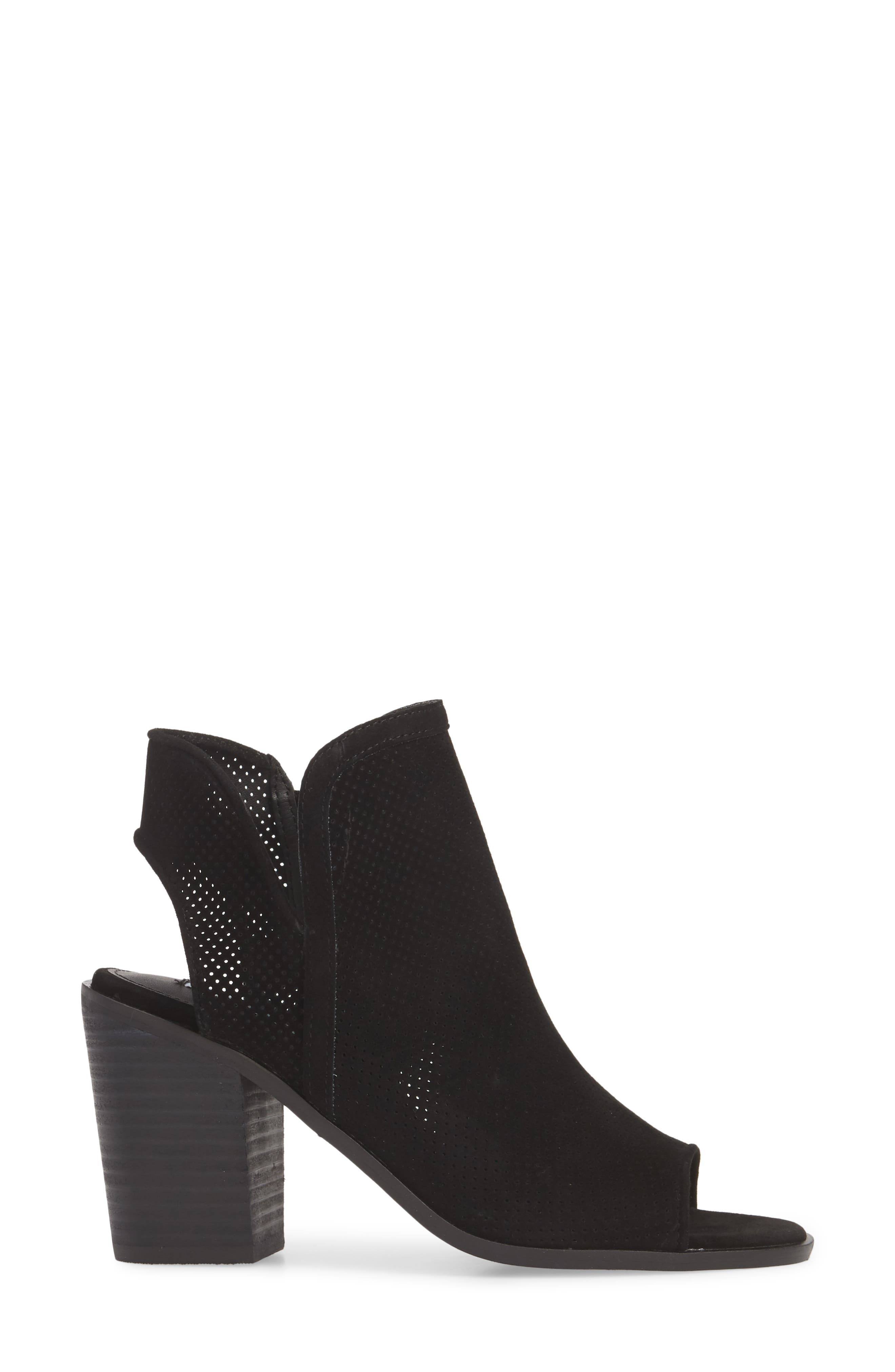 Maxine Perforated Bootie,                             Alternate thumbnail 3, color,                             006