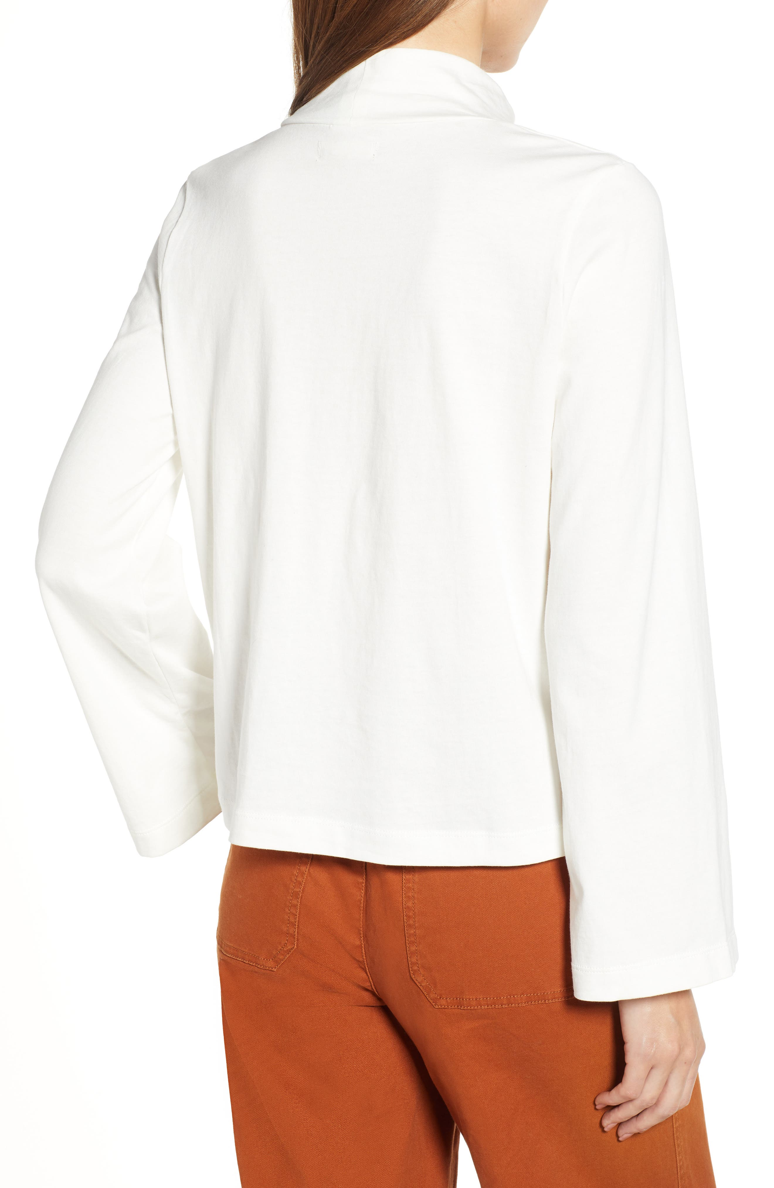 Wide Sleeve Turtleneck,                             Alternate thumbnail 2, color,                             BRIGHT IVORY