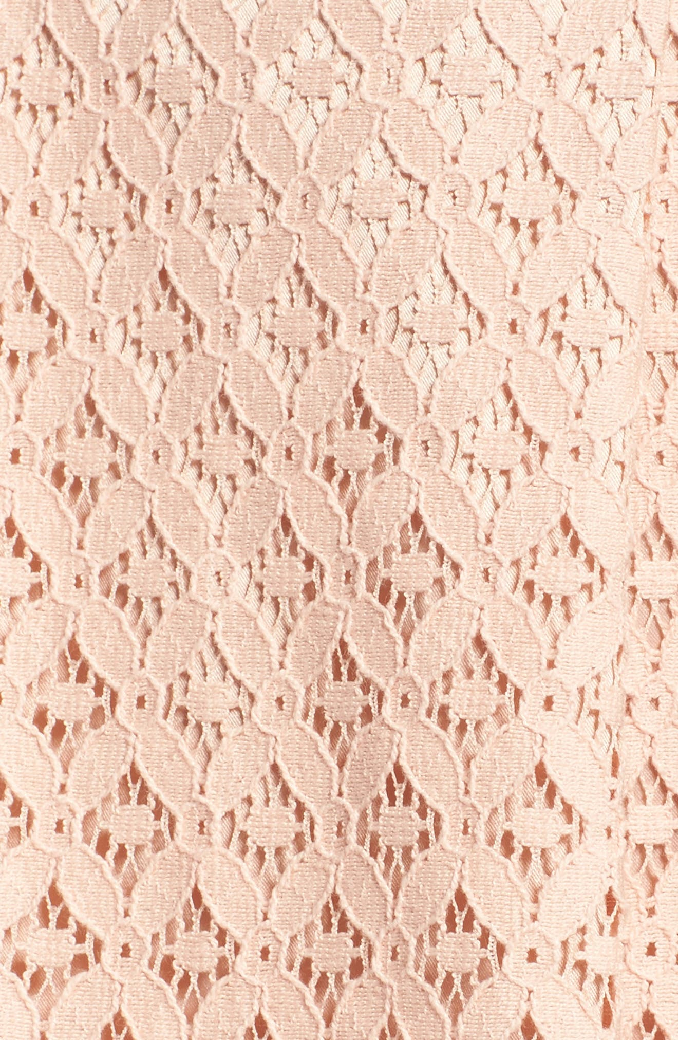 Banded Lace Midi Skirt,                             Alternate thumbnail 5, color,                             BLUSH