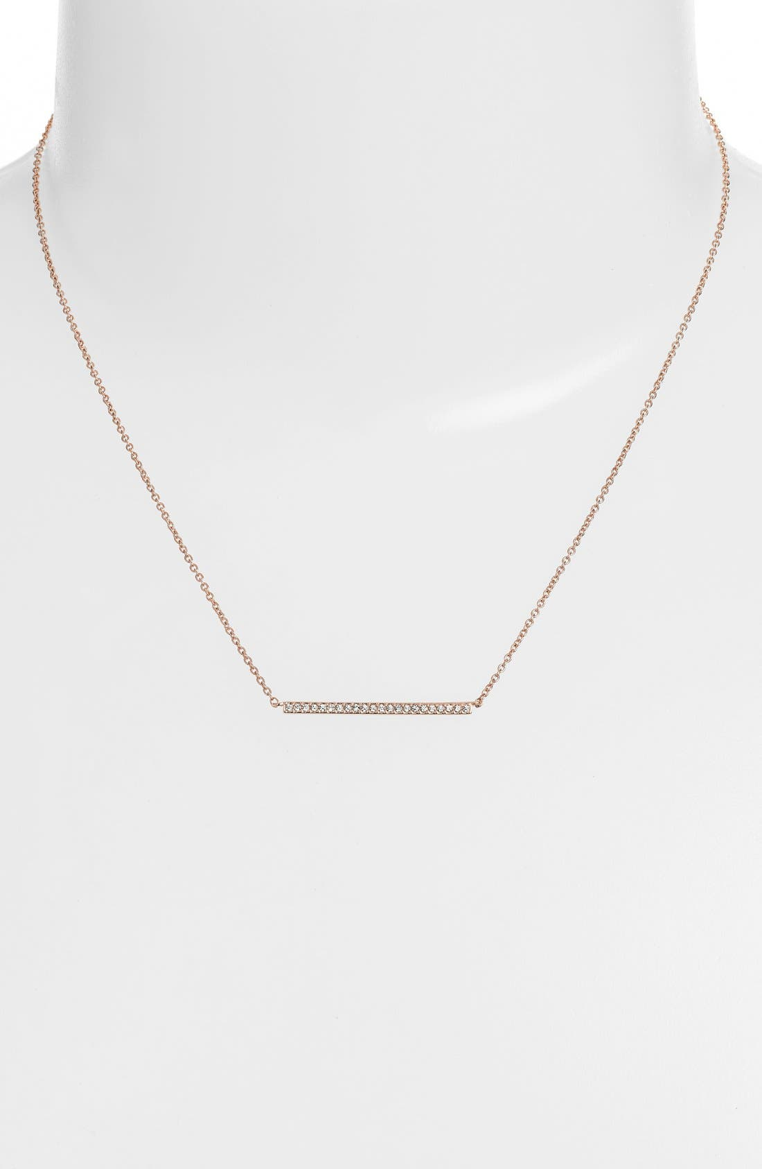 Bar Pendant Necklace,                             Alternate thumbnail 2, color,                             ROSE GOLD