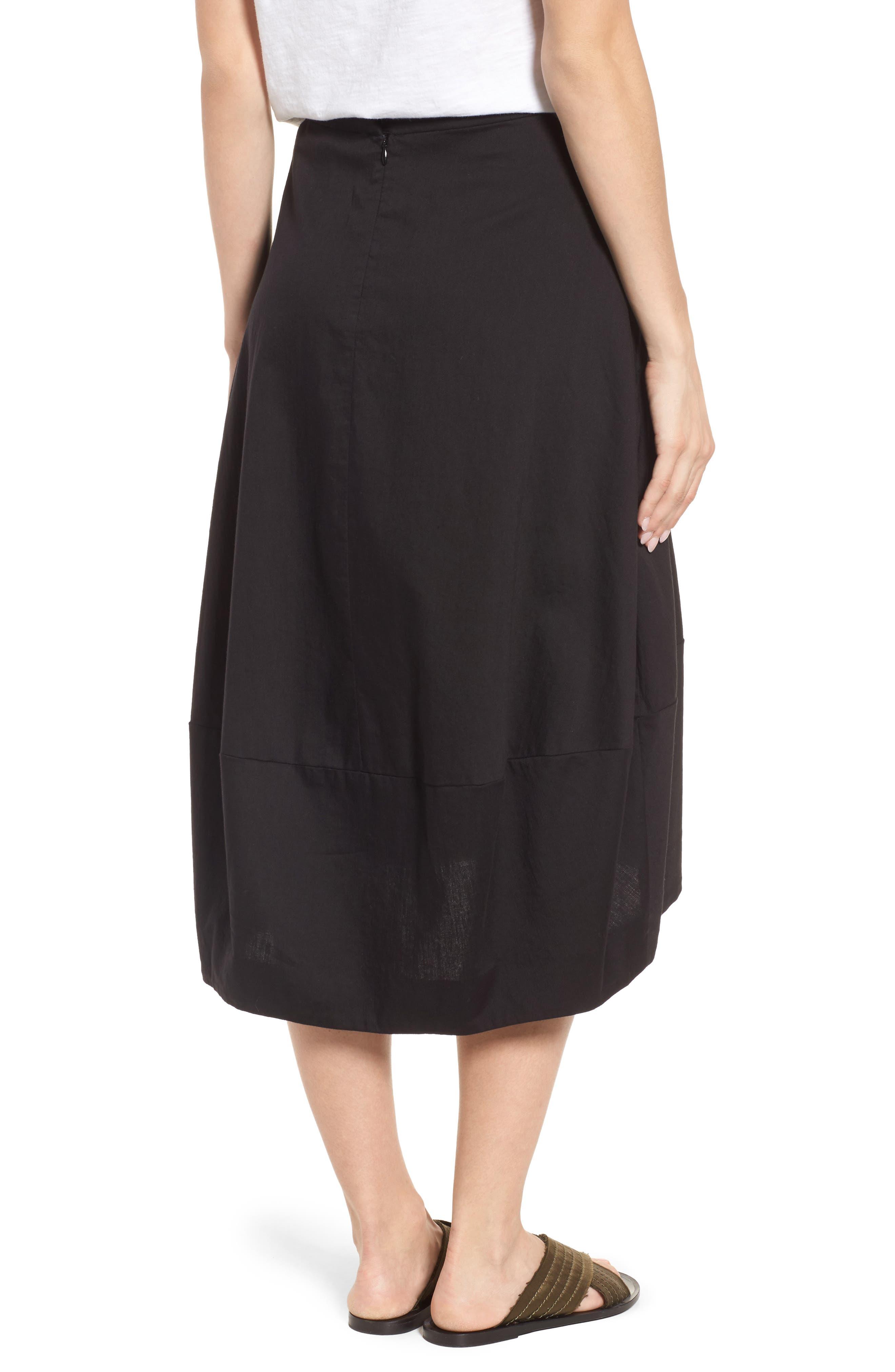 Organic Cotton Lantern Skirt,                             Alternate thumbnail 2, color,                             001