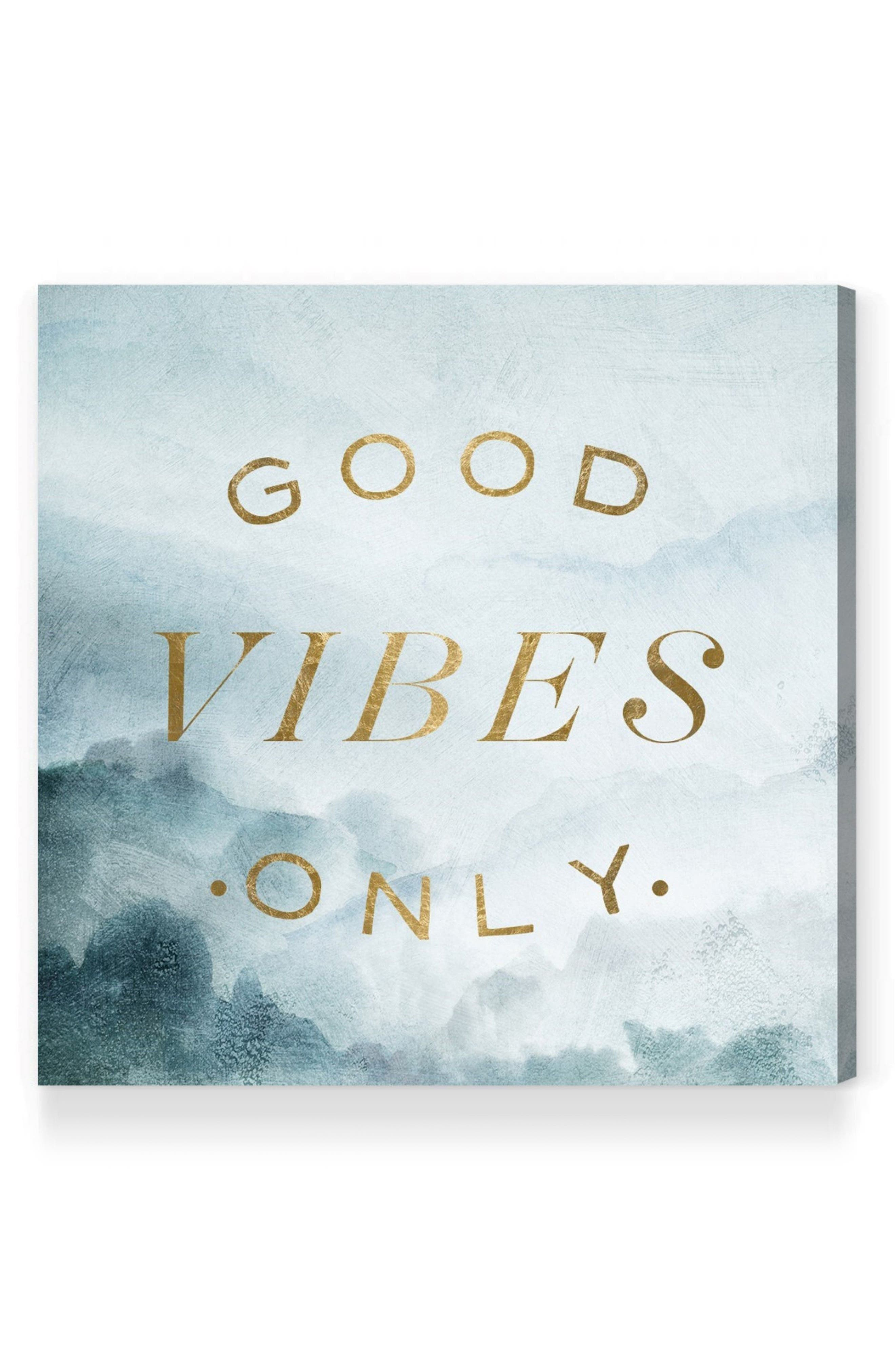 Good Vibes Only Canvas Wall Art,                             Main thumbnail 1, color,                             400