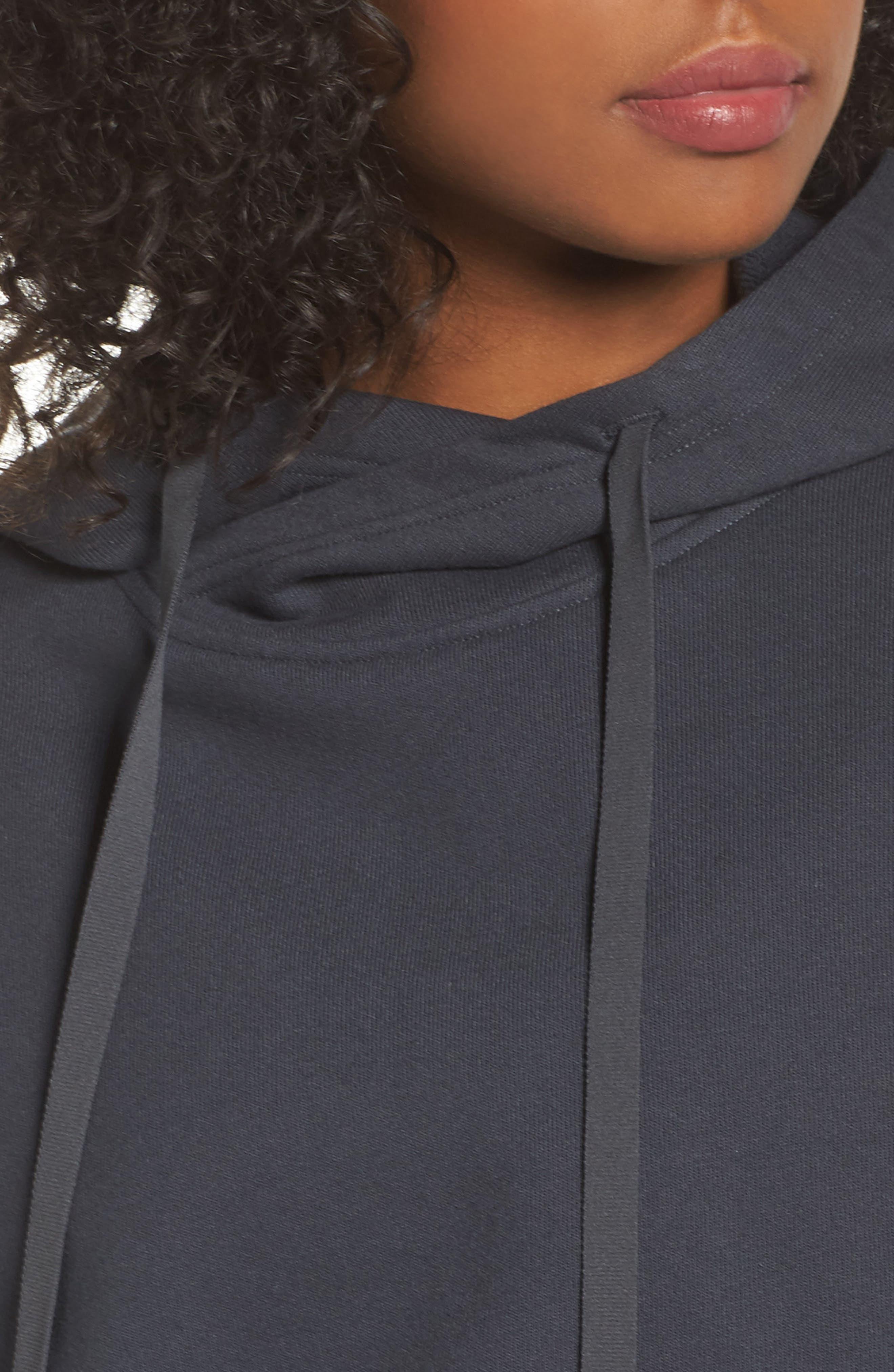 Peak Cutout Long Sleeve Pullover Crop Hoodie,                             Alternate thumbnail 12, color,