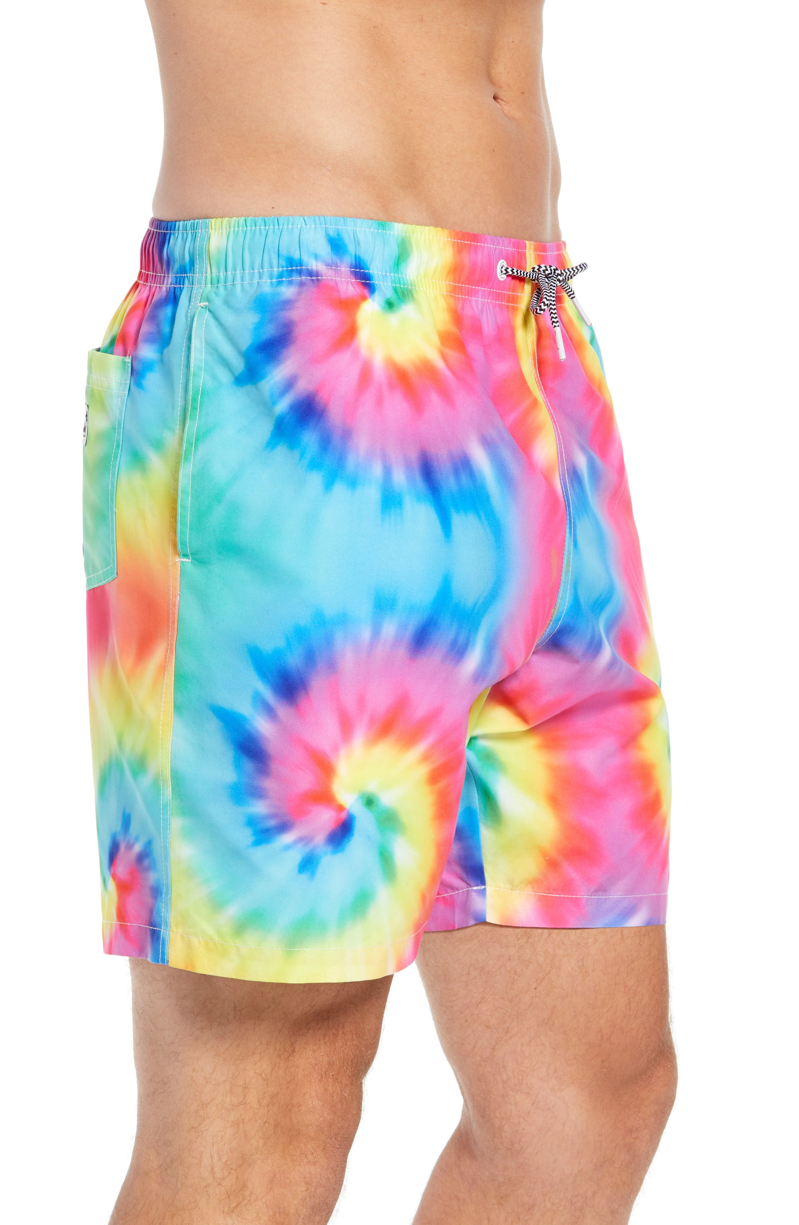 Tie Dye Swim Trunks,                             Alternate thumbnail 3, color,                             400