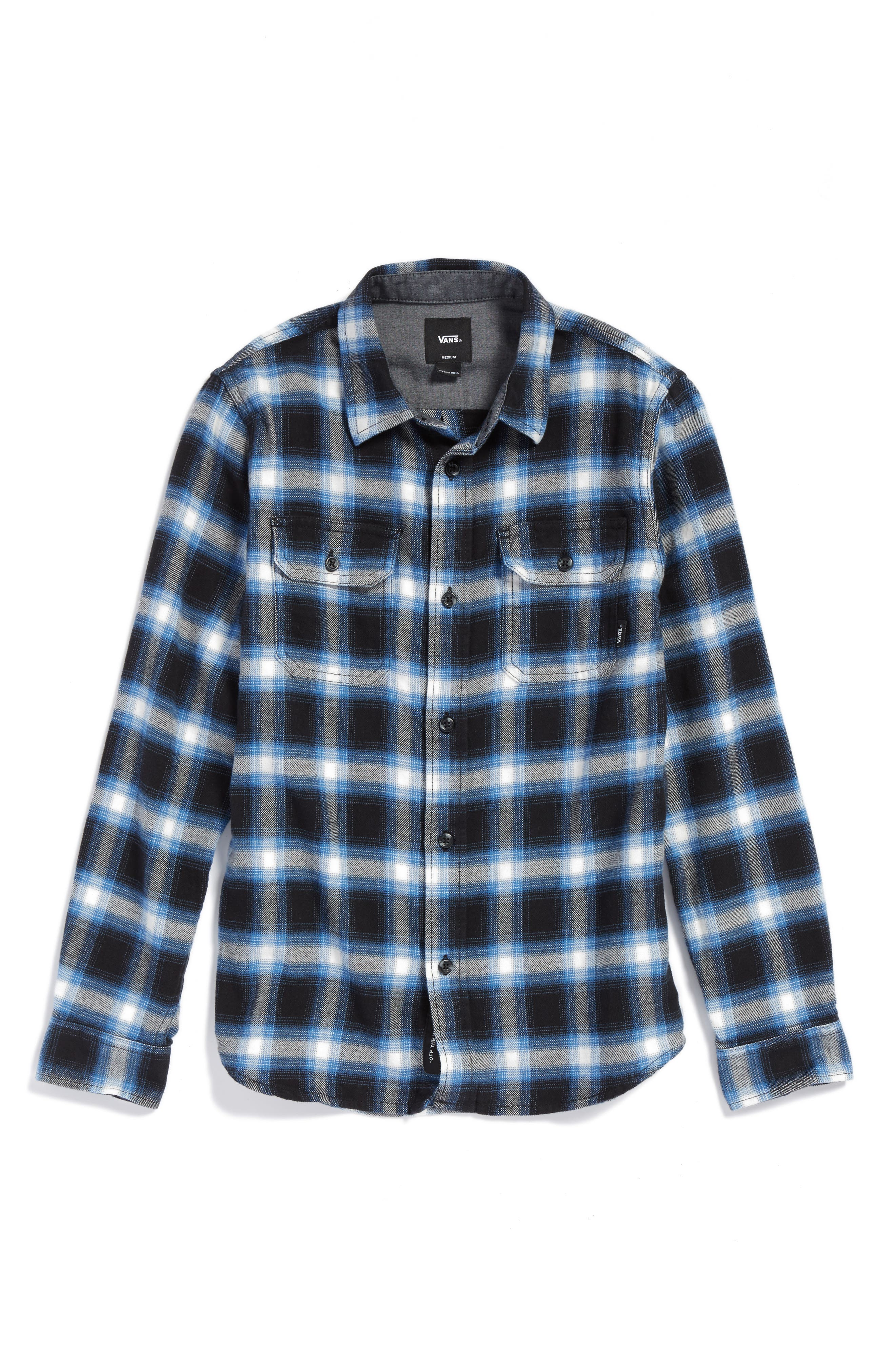 Beechwood Plaid Flannel Shirt,                         Main,                         color, 001