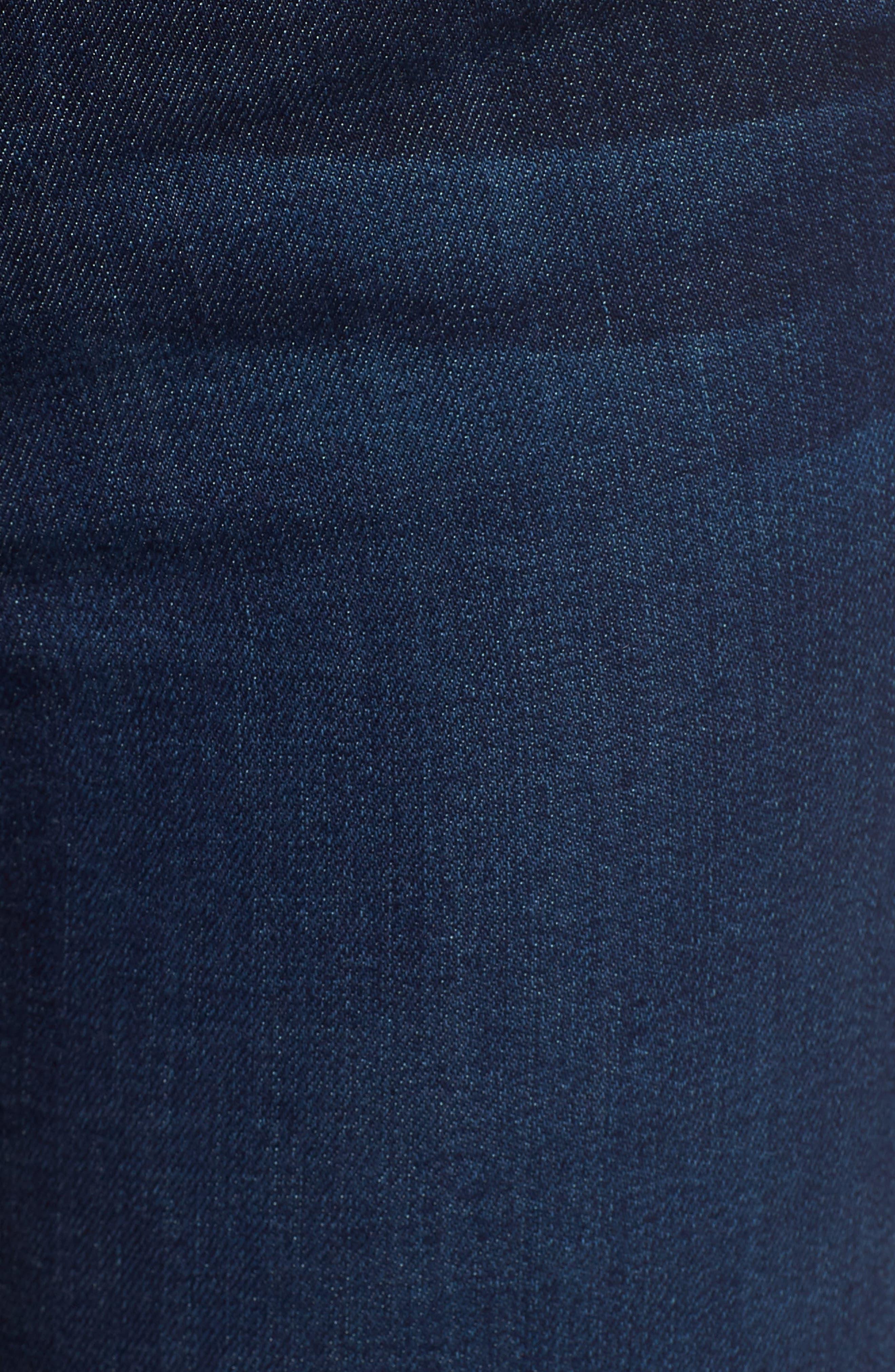 High Waist Cutoff Skinny Jeans,                             Alternate thumbnail 6, color,                             400