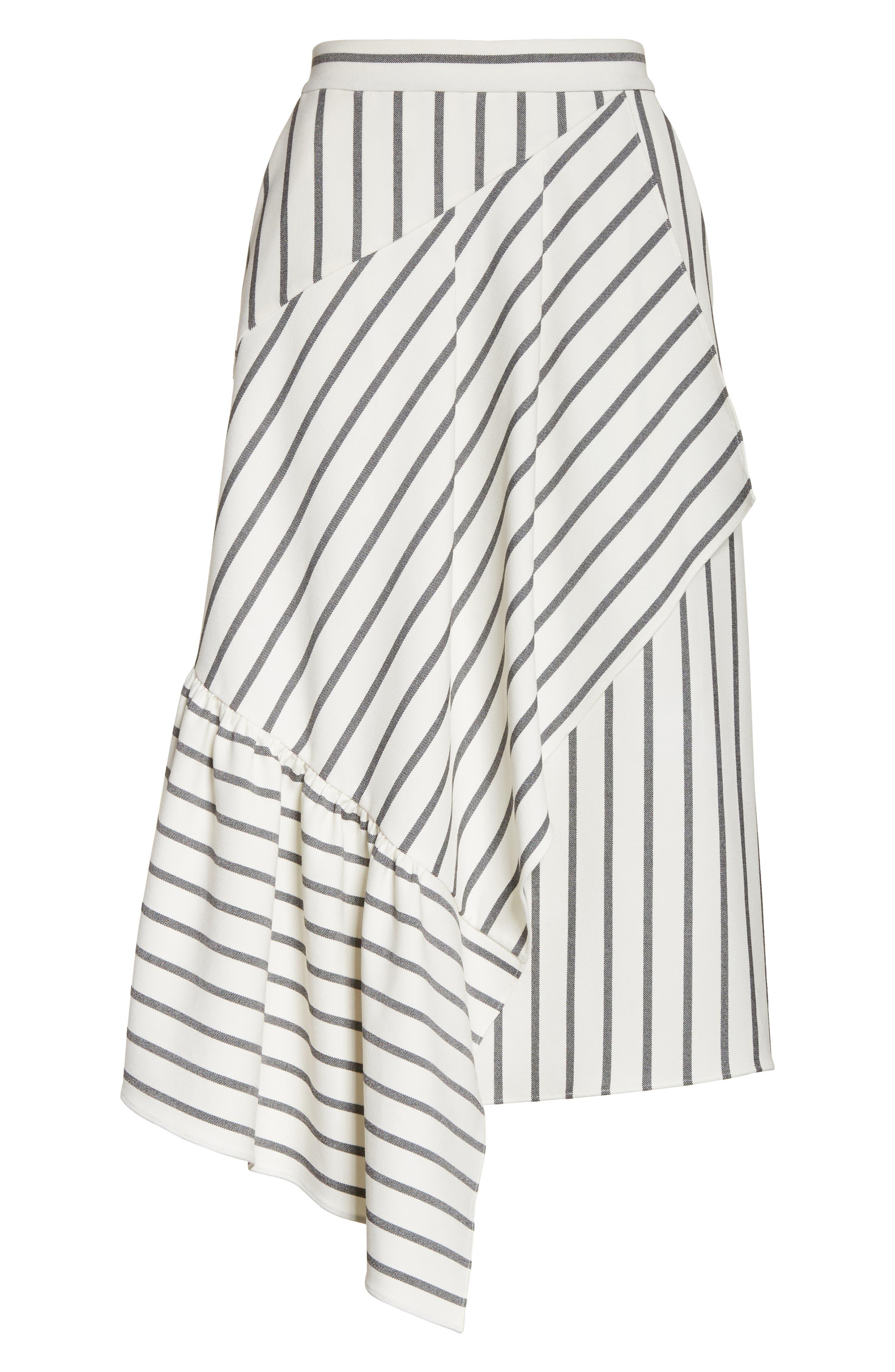 Lucci Stripe Midi Skirt,                             Alternate thumbnail 6, color,