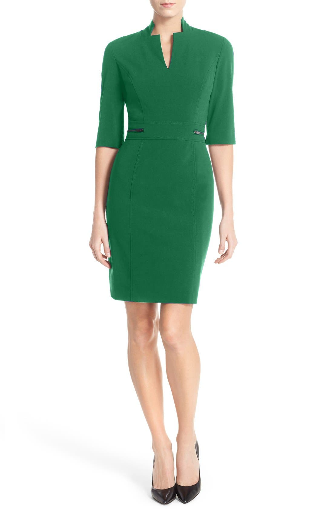Sheath Dress,                             Alternate thumbnail 7, color,                             COBALT