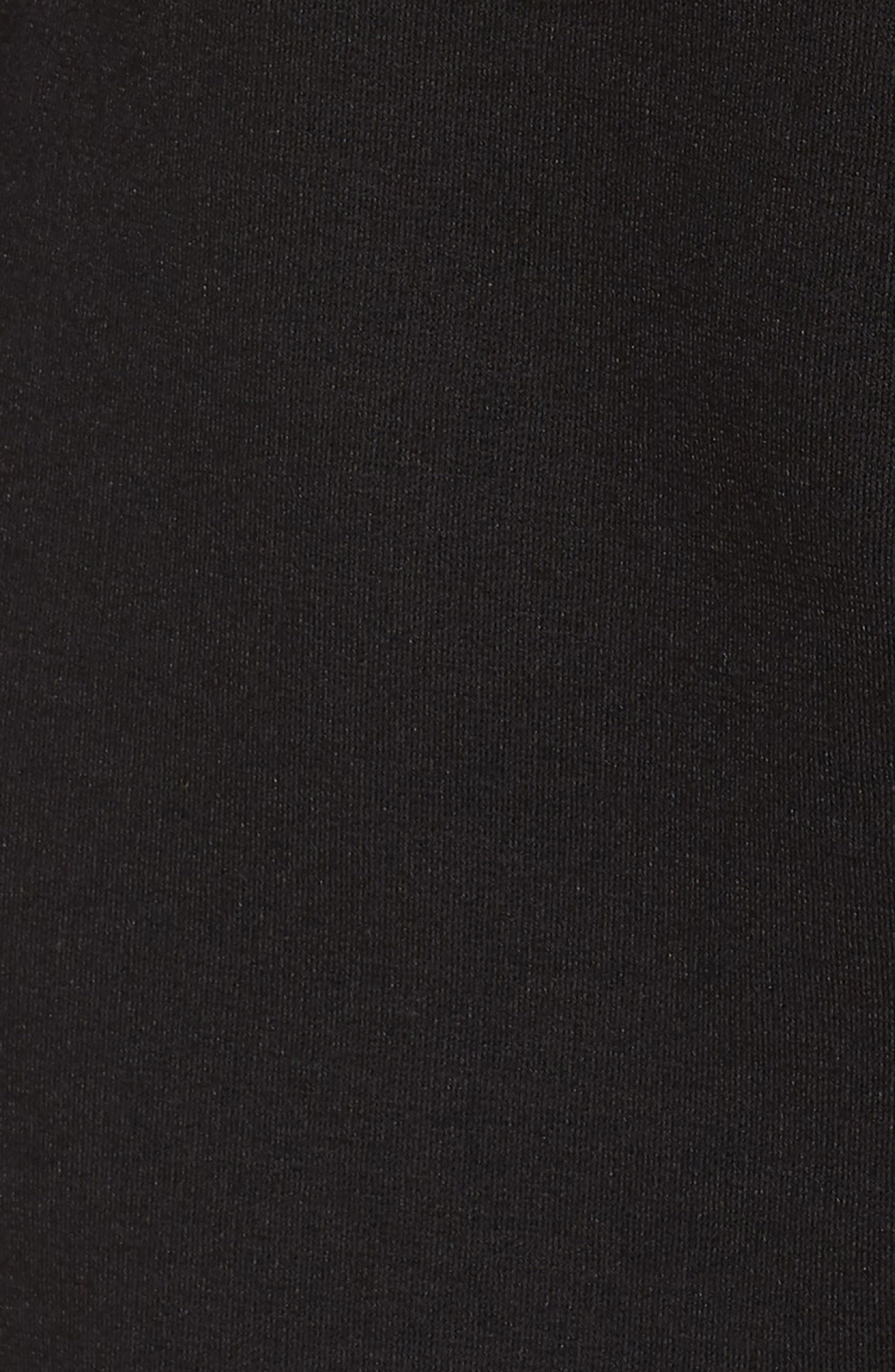 Faux Wrap Ponte Sheath Dress,                             Alternate thumbnail 7, color,                             001