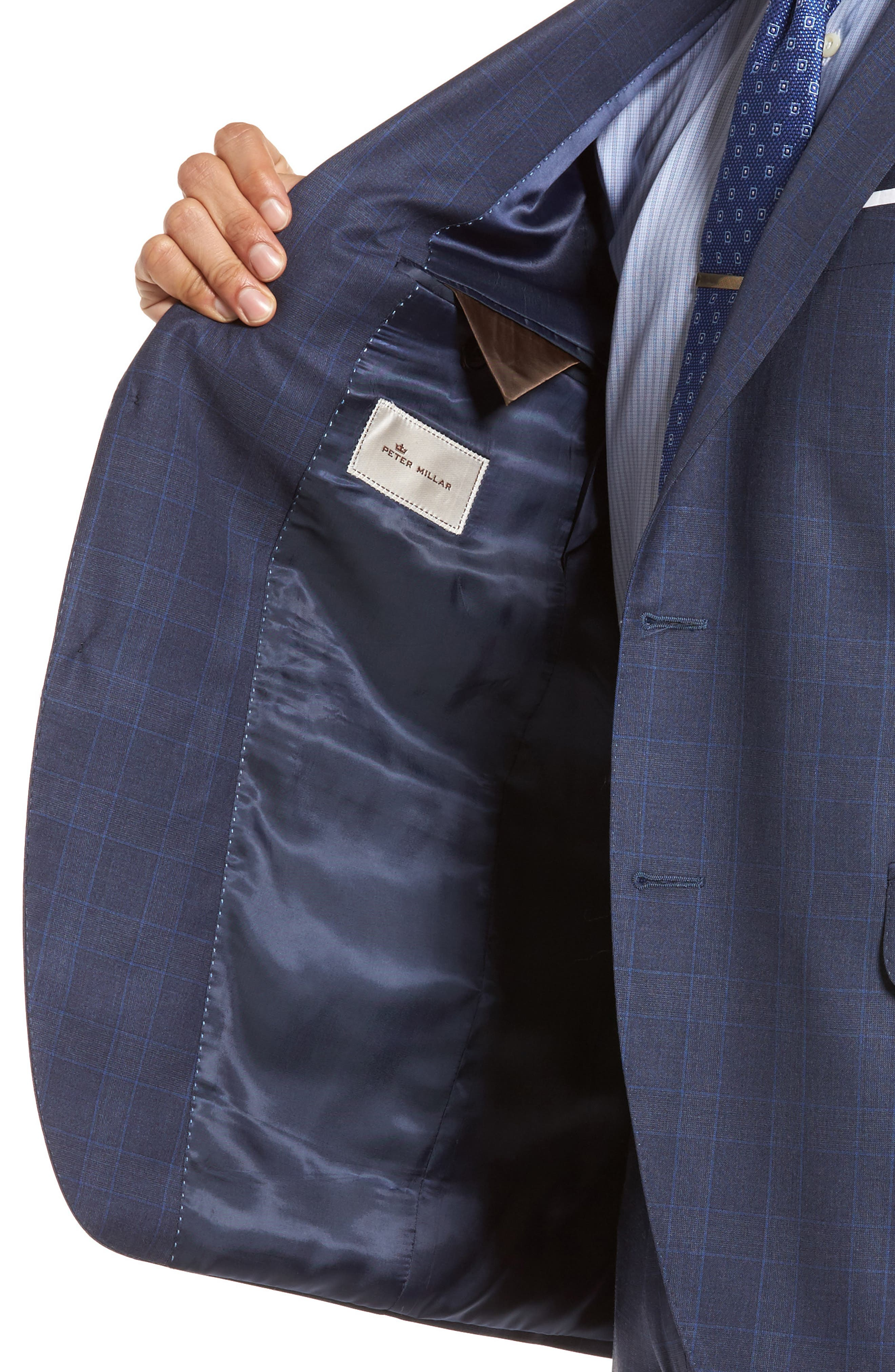 Classic Fit Windowpane Wool Suit,                             Alternate thumbnail 4, color,                             400