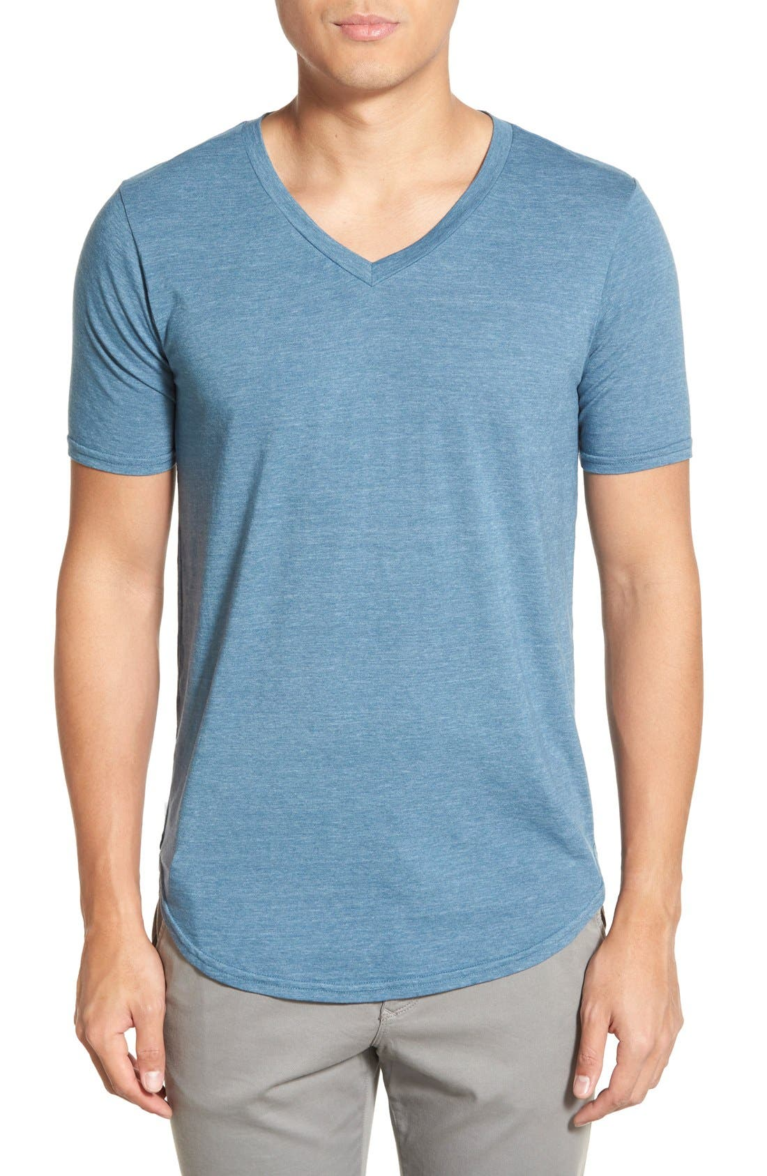 Scallop Triblend V-Neck T-Shirt,                             Main thumbnail 21, color,