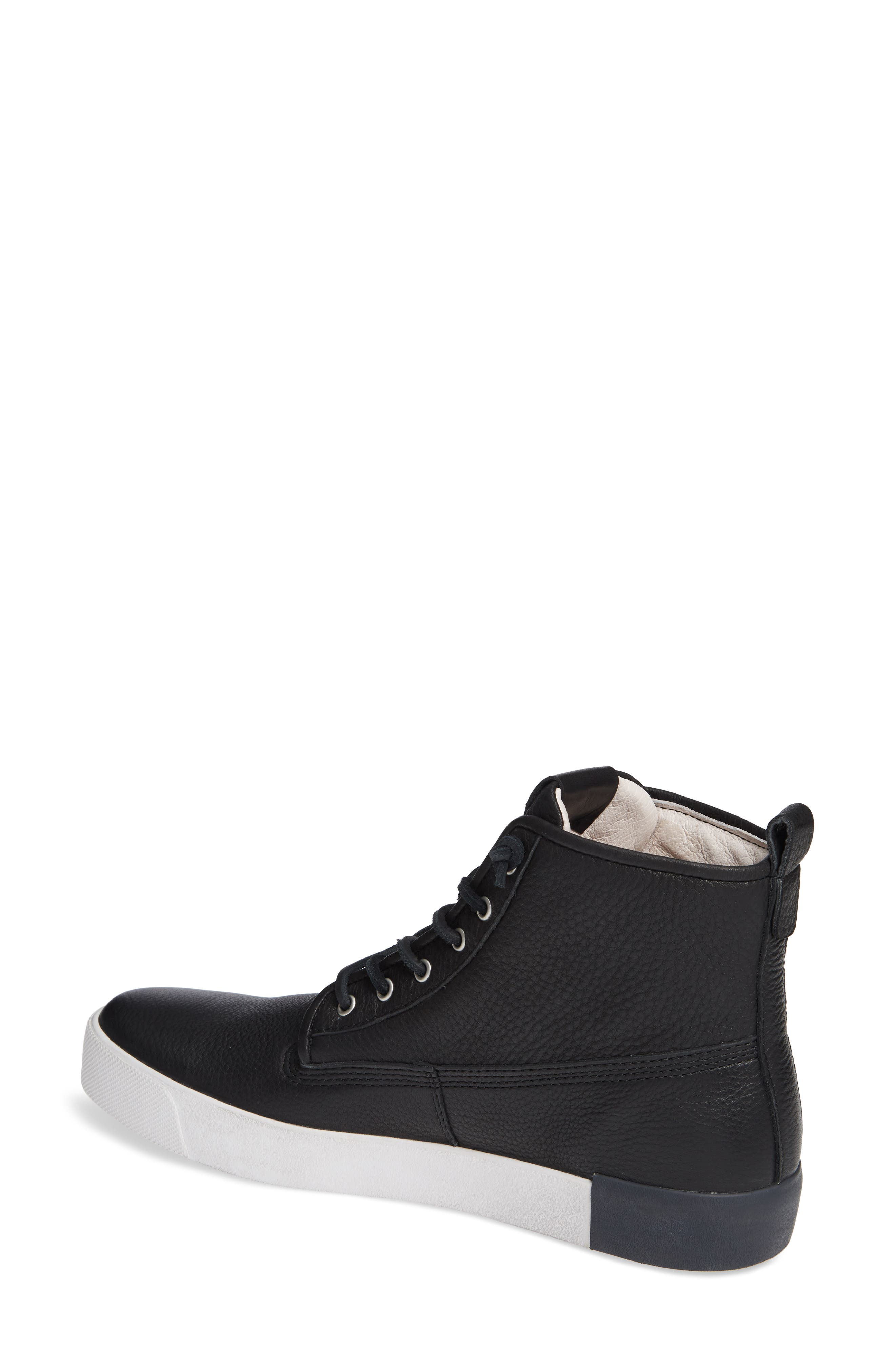 QM80 High Top Sneaker,                             Alternate thumbnail 2, color,                             BLACK