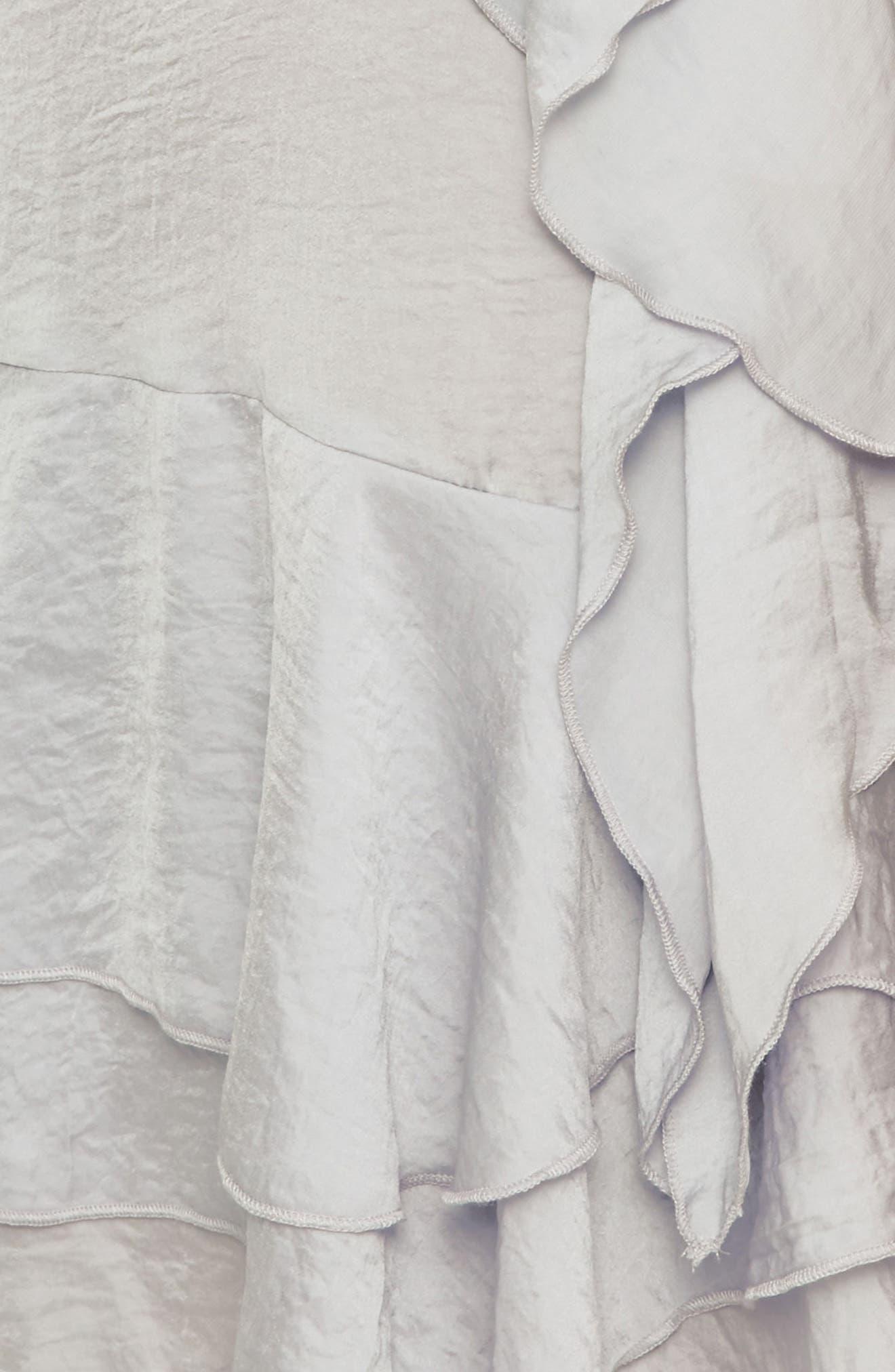 Layered Ruffle Minidress,                             Alternate thumbnail 4, color,                             060