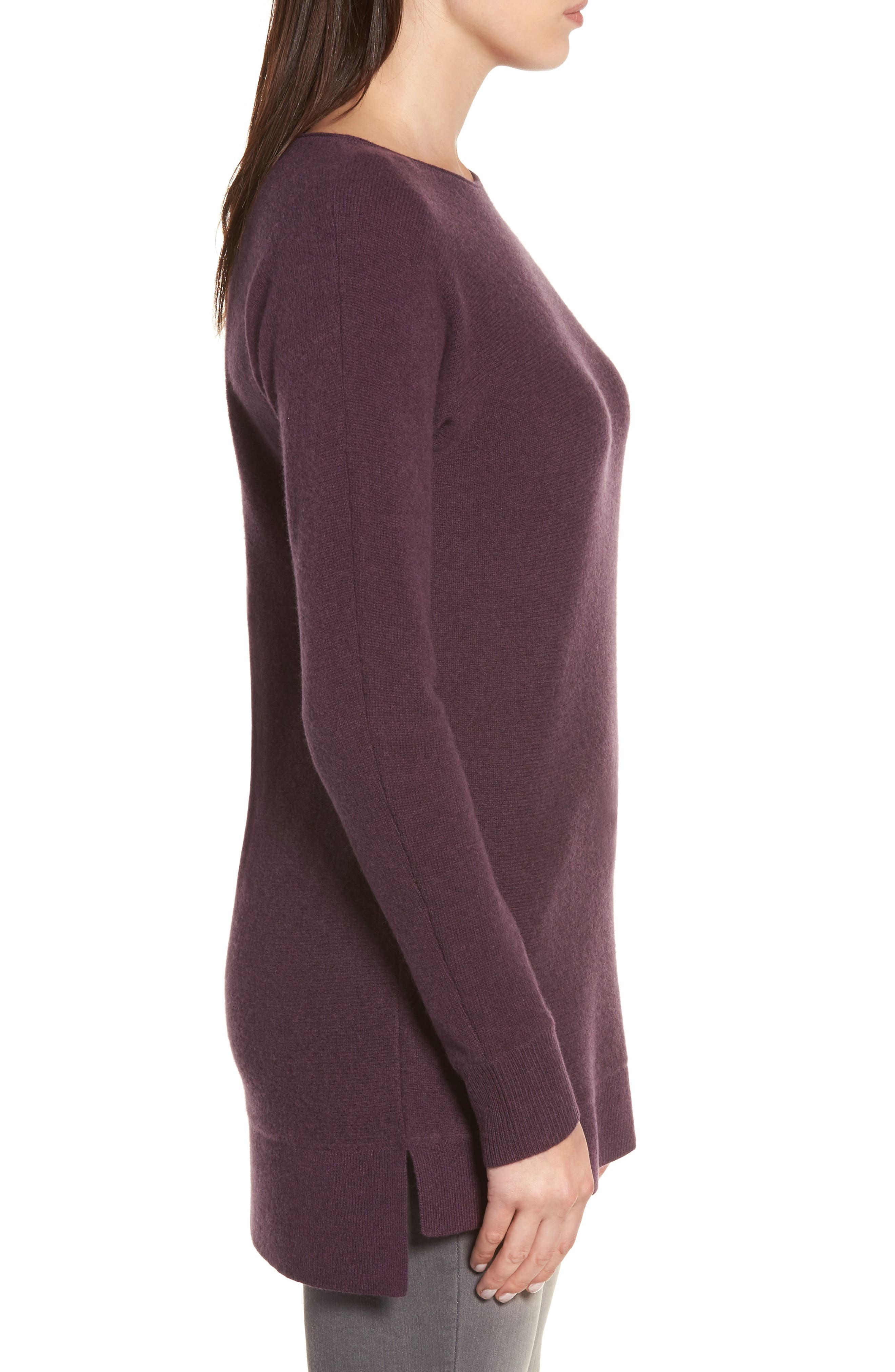 High/Low Wool & Cashmere Tunic Sweater,                             Alternate thumbnail 49, color,