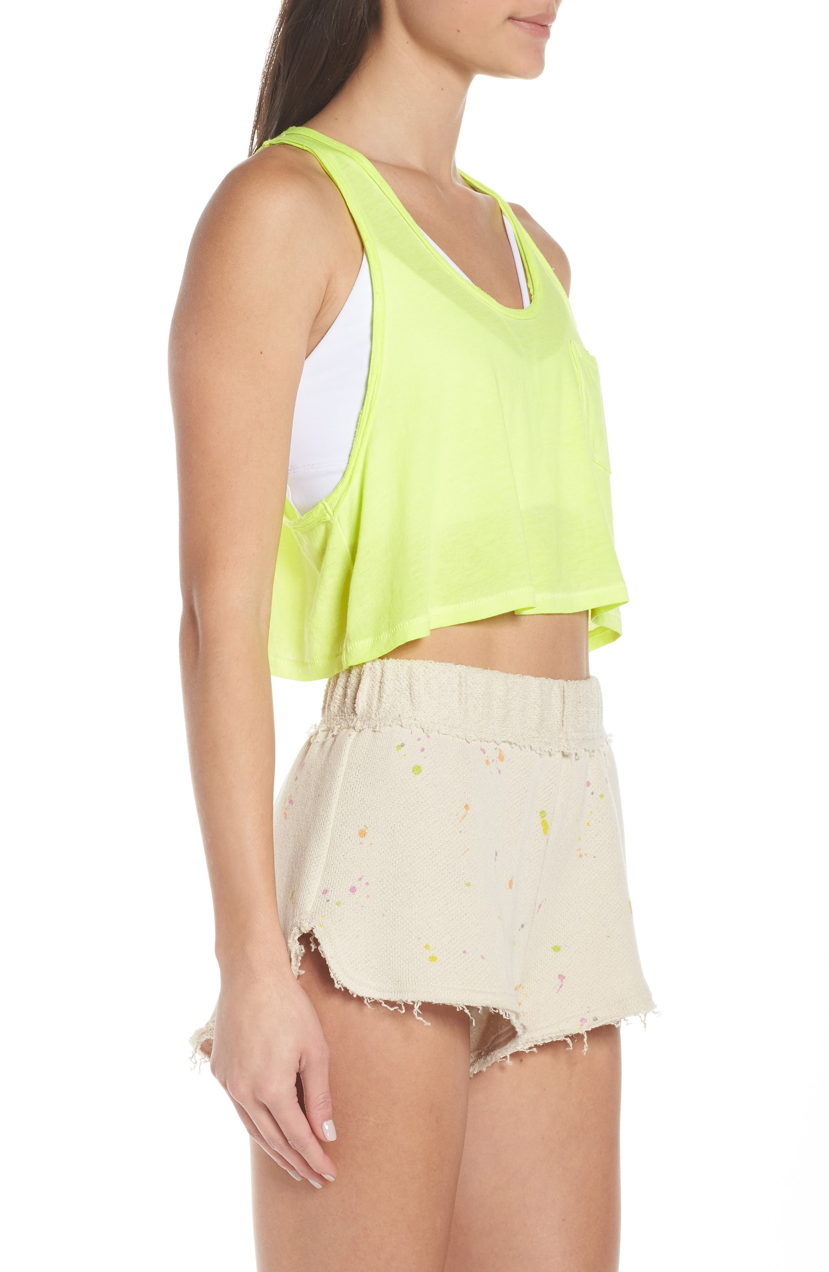 FREE PEOPLE MOVEMENT,                             Sunny Days Cropped Tank Top,                             Alternate thumbnail 4, color,                             LIME