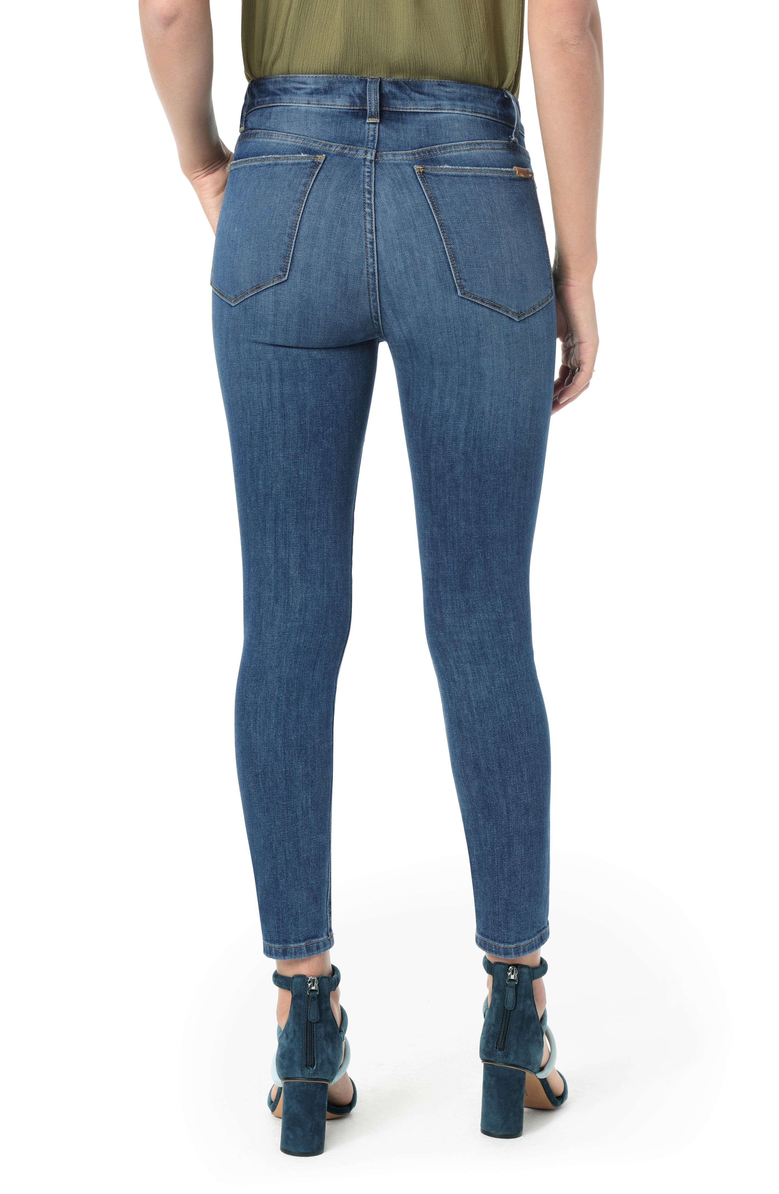 Charlie High Waist Crop Skinny Jeans,                             Alternate thumbnail 2, color,                             MALLORY