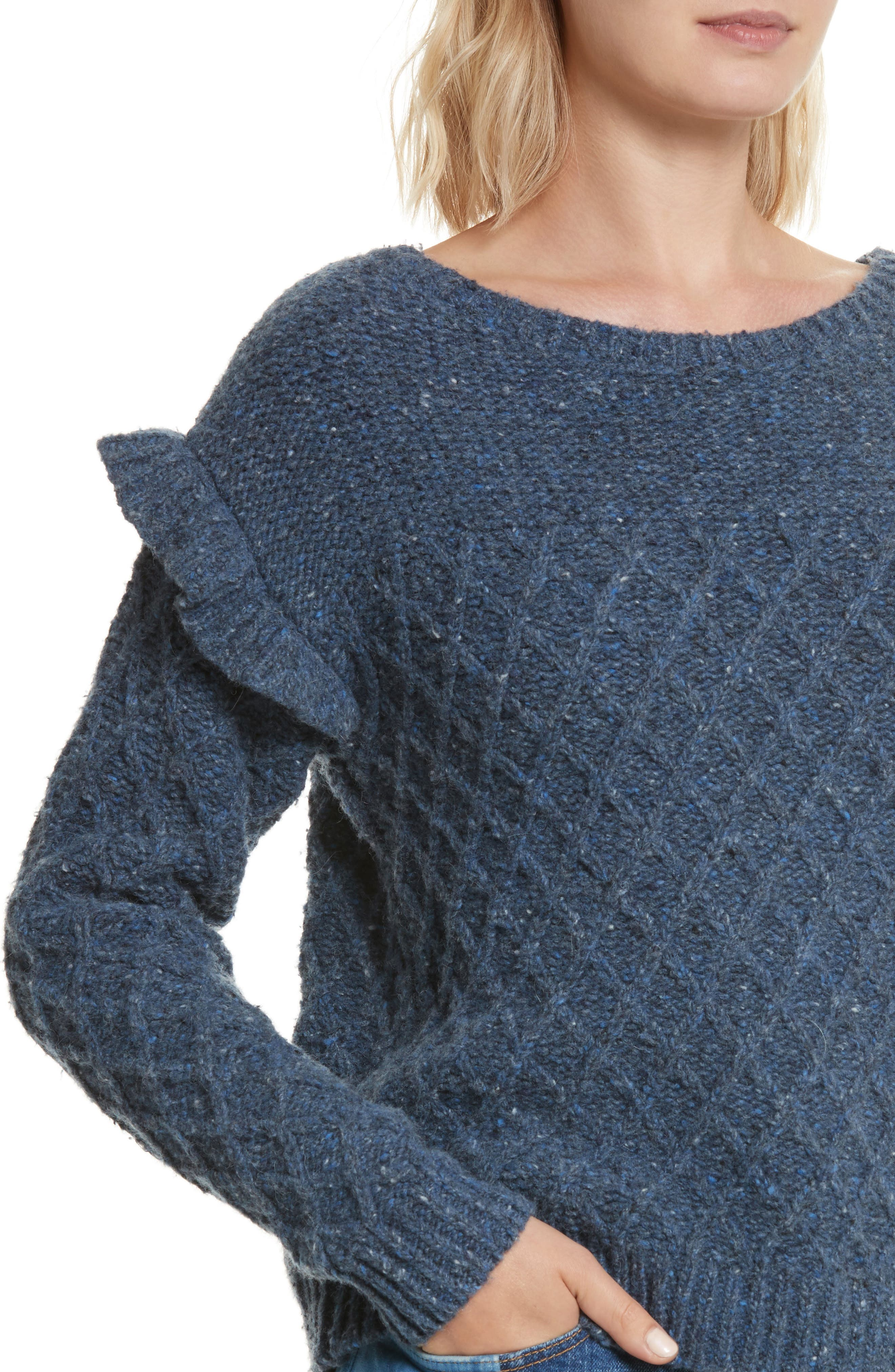 Lattice Stitch Pullover,                             Alternate thumbnail 4, color,                             454