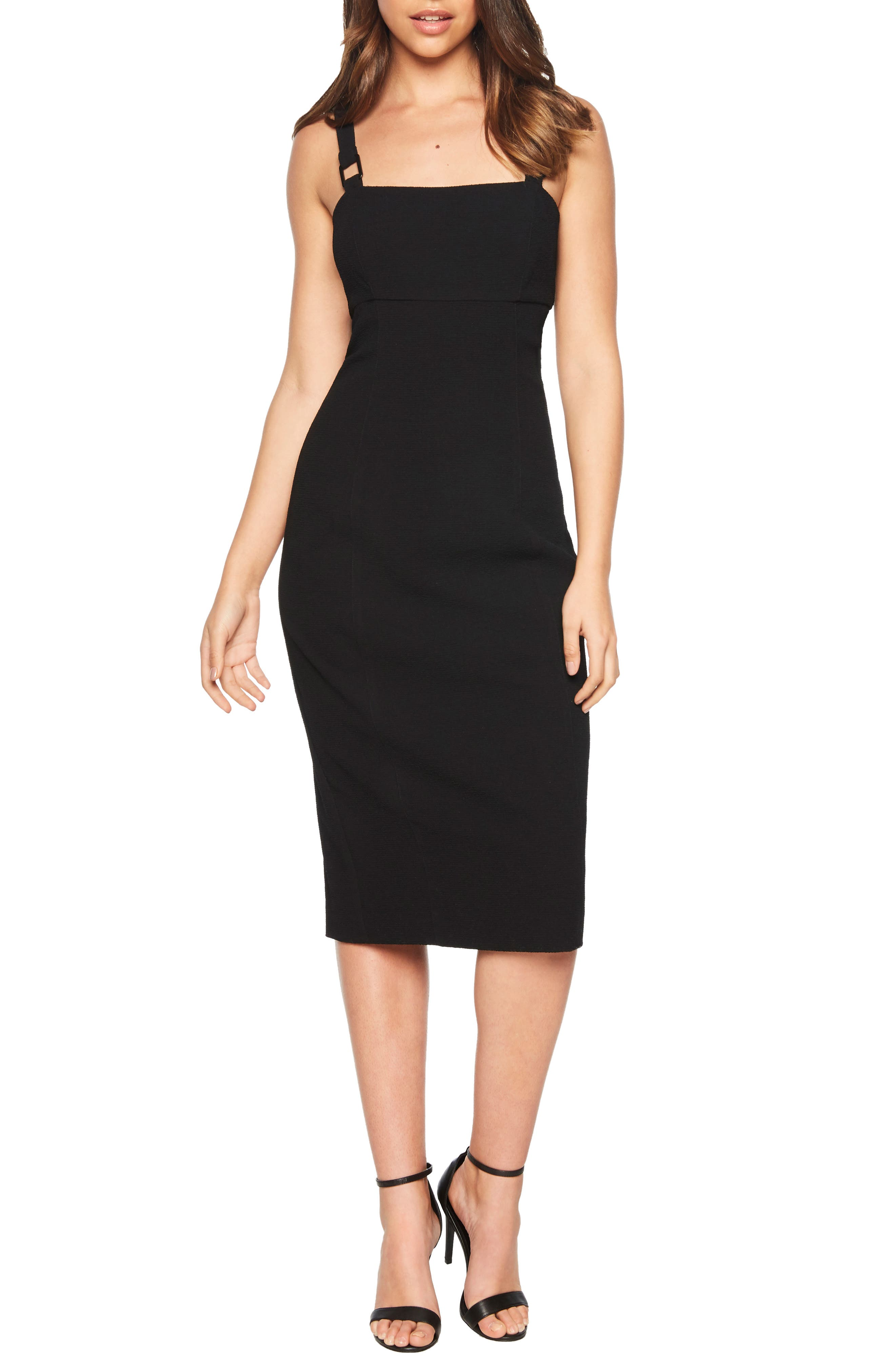 Bardot Buckle Strap Sheath Dress