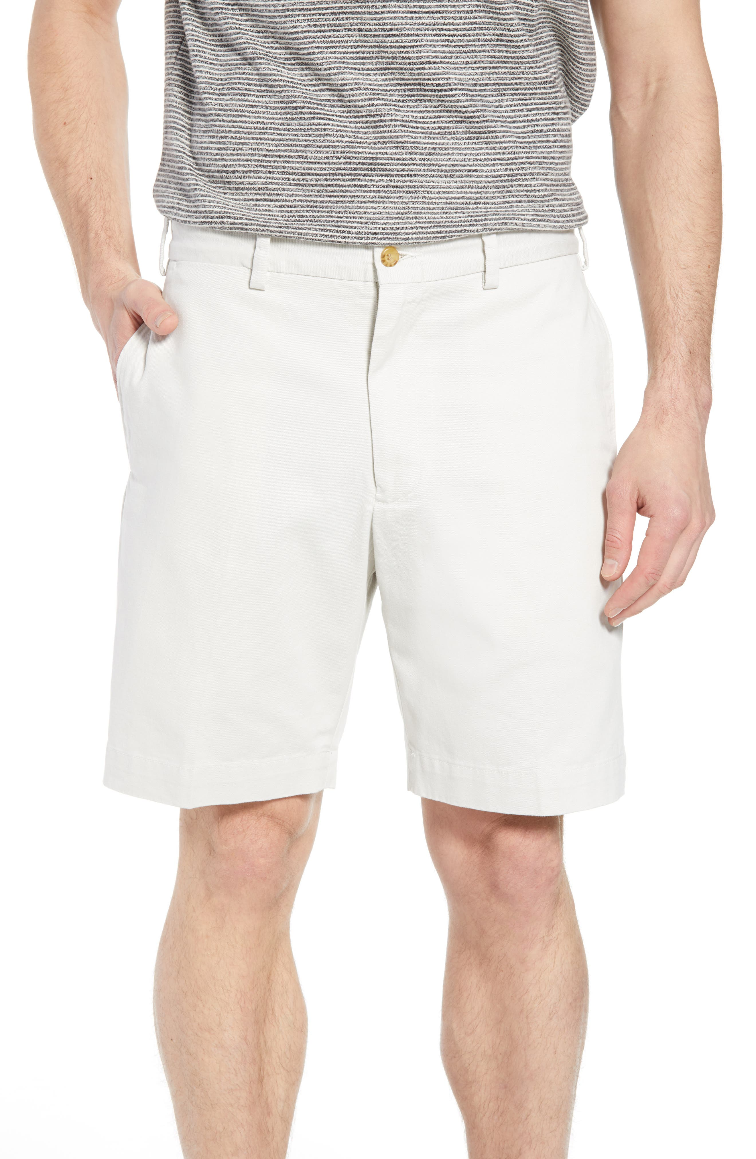 M2 Classic Fit Flat Front Vintage Twill Shorts,                         Main,                         color,