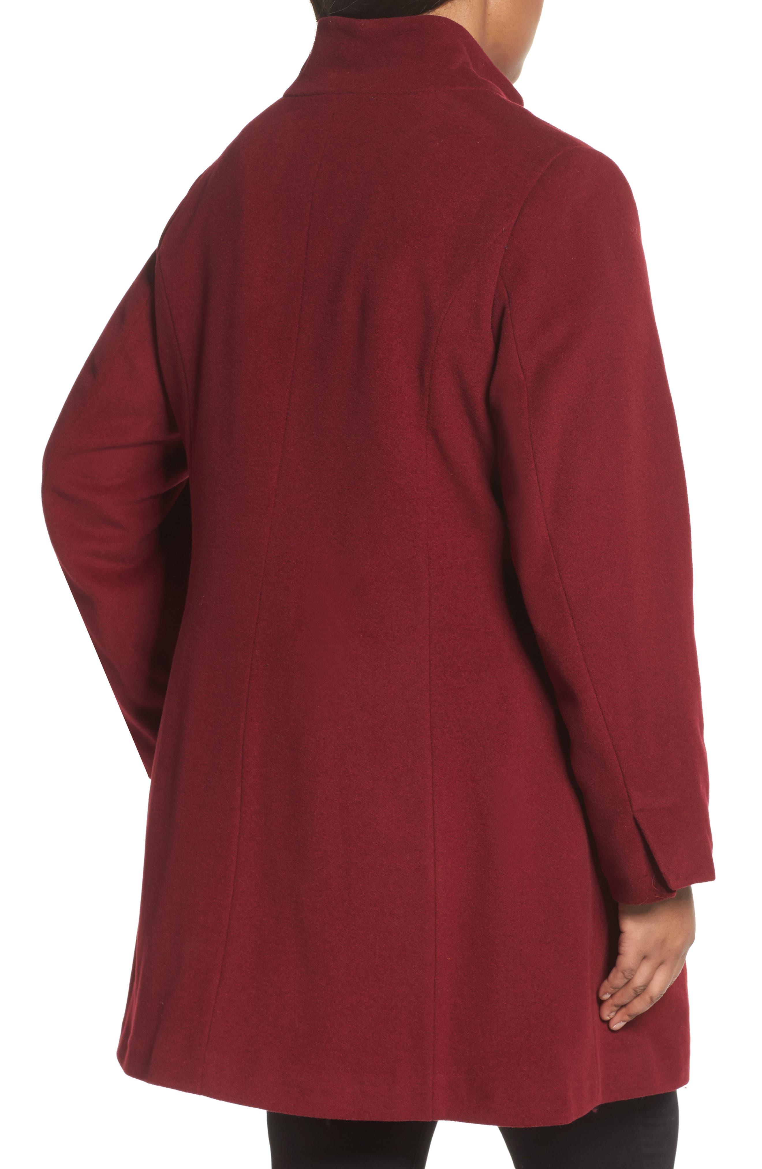 Kate Ruffle Wool Blend Coat,                             Alternate thumbnail 7, color,