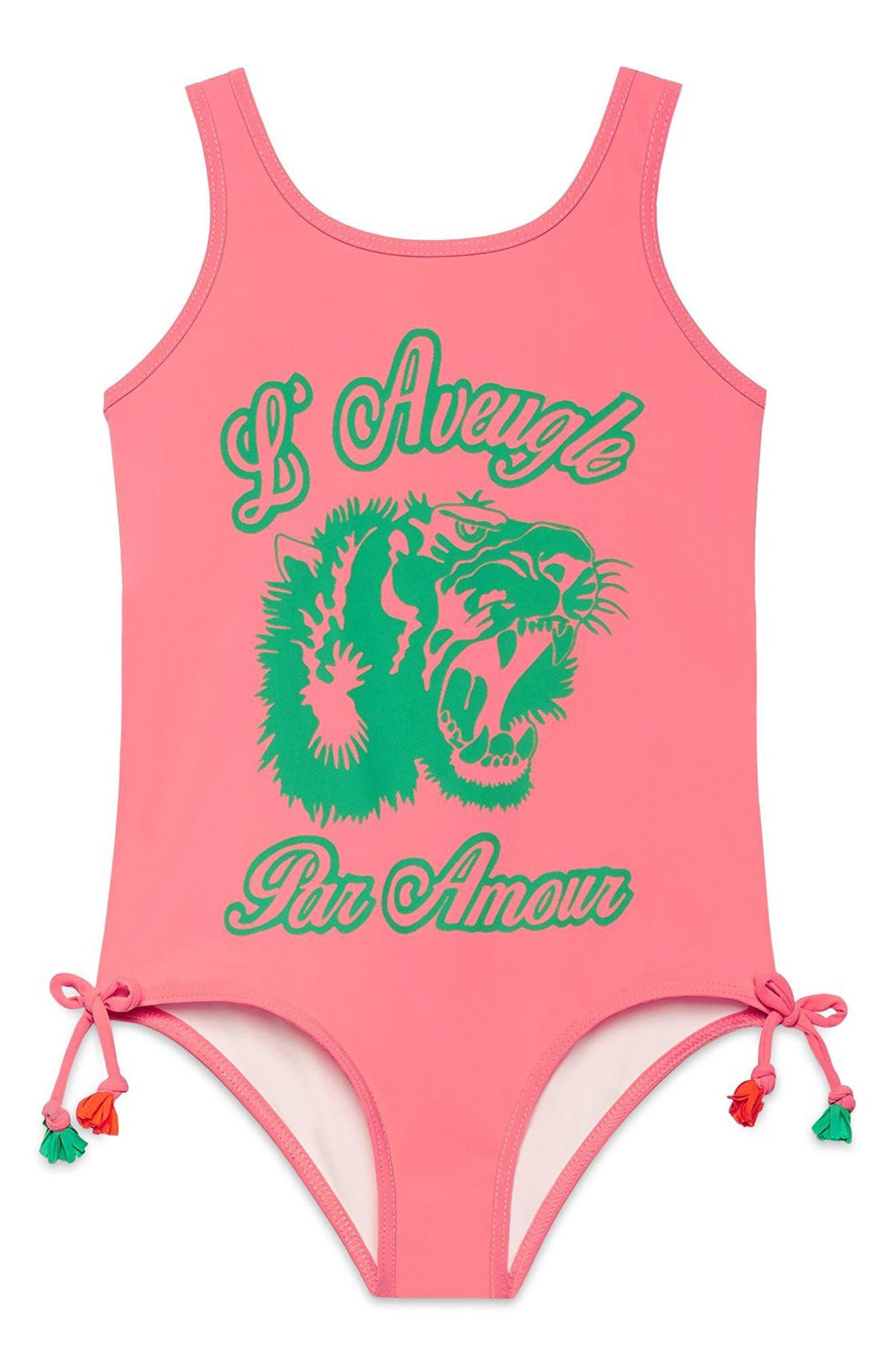 Graphic One-Piece Swimsuit,                             Main thumbnail 1, color,                             664